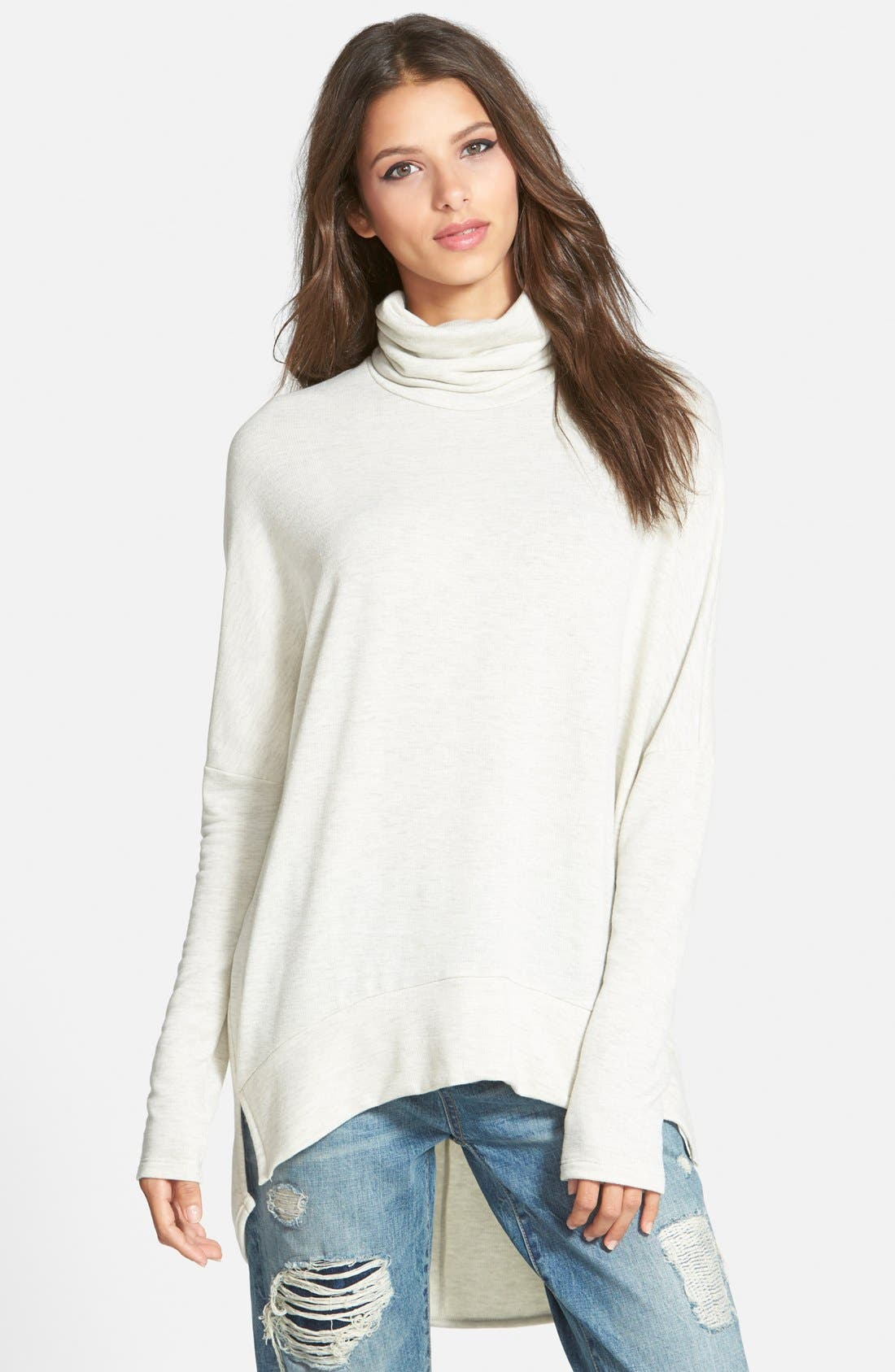 Main Image - Madison & Berkeley Oversize Turtleneck Tunic (Nordstrom Exclusive)