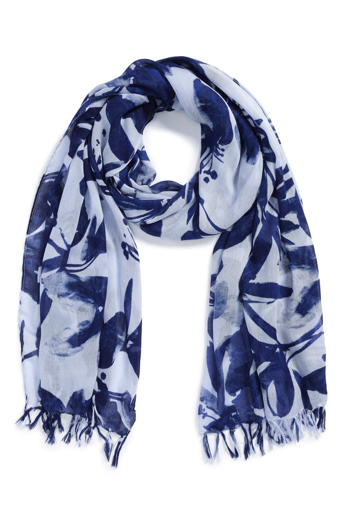 Alternate Image 1 Selected - Nordstrom 'Brushstroke Blossom' Scarf