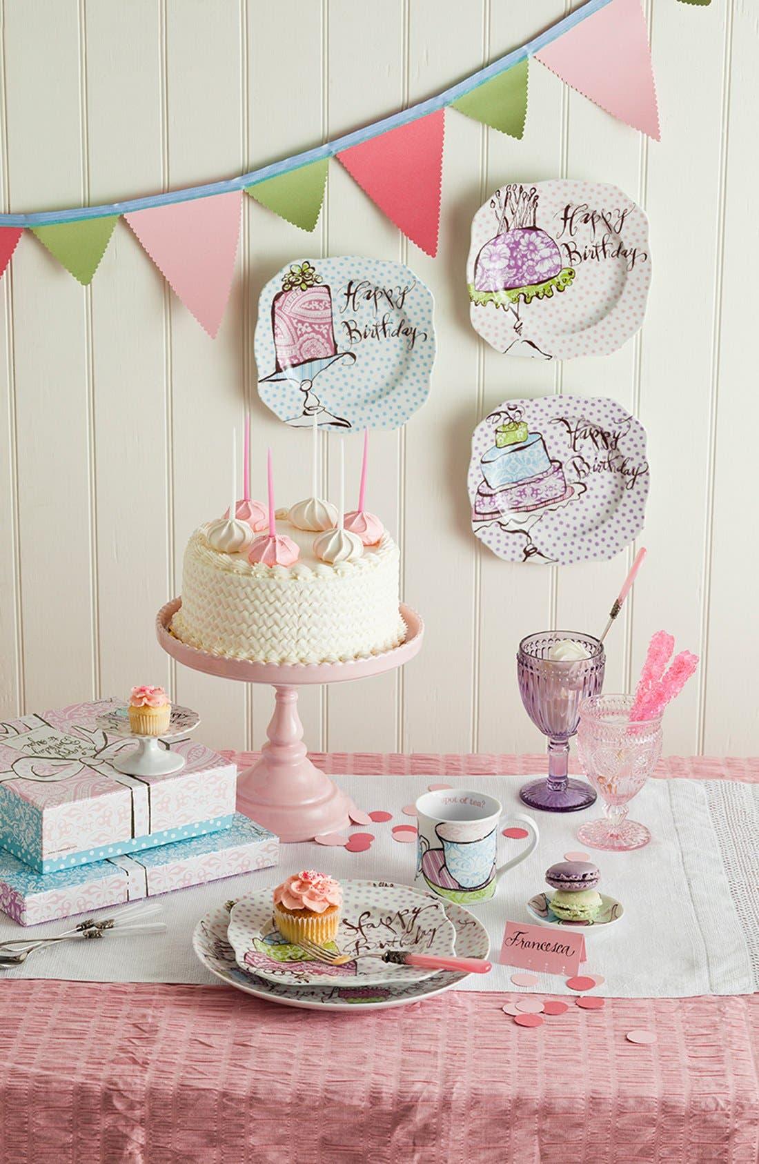 Alternate Image 2  - Rosanna 'Happy Birthday' Dessert Plates (Set of 4)