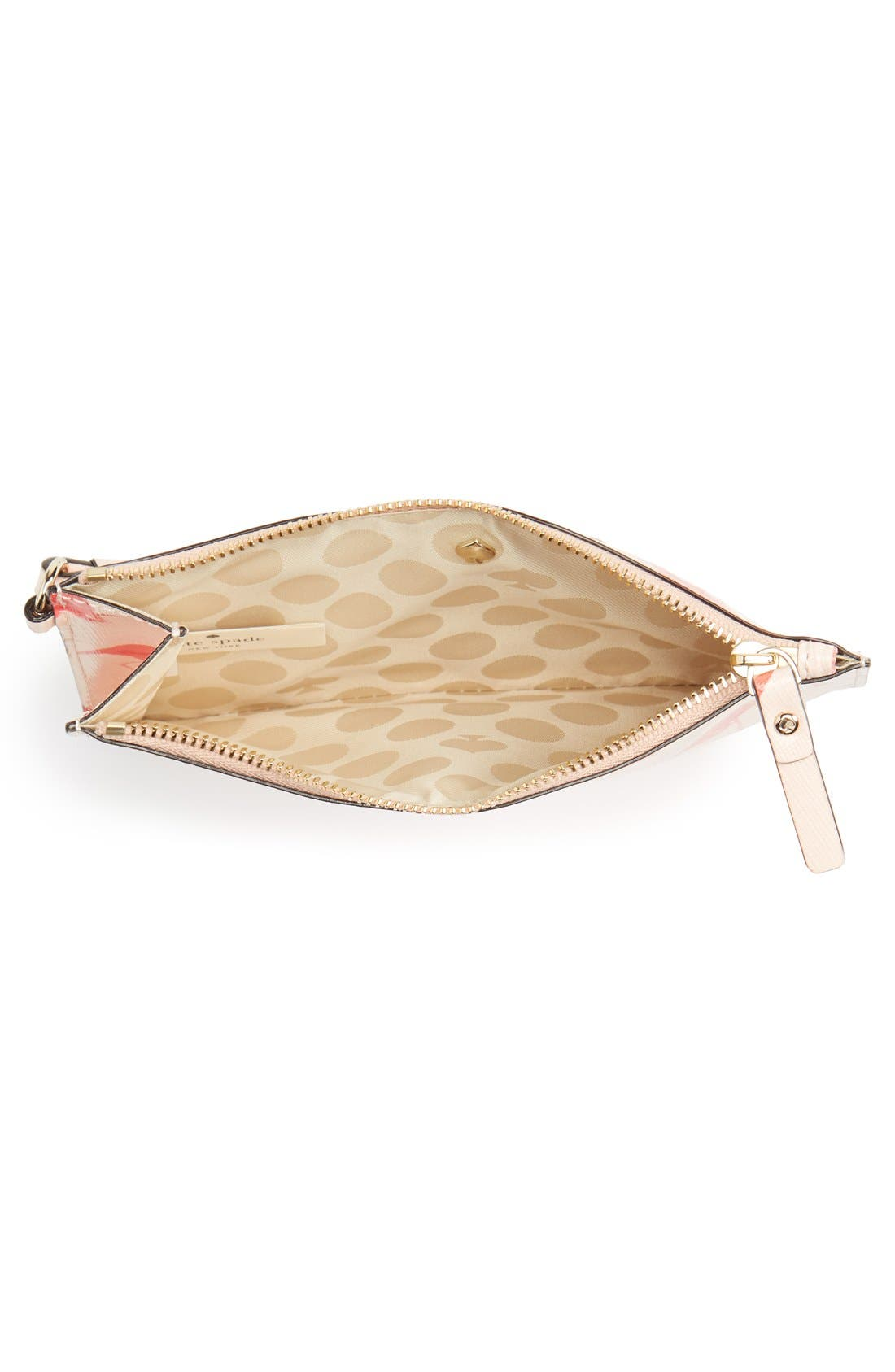 Alternate Image 4  - kate spade new york 'cedar street - flamingos slim bee' wristlet