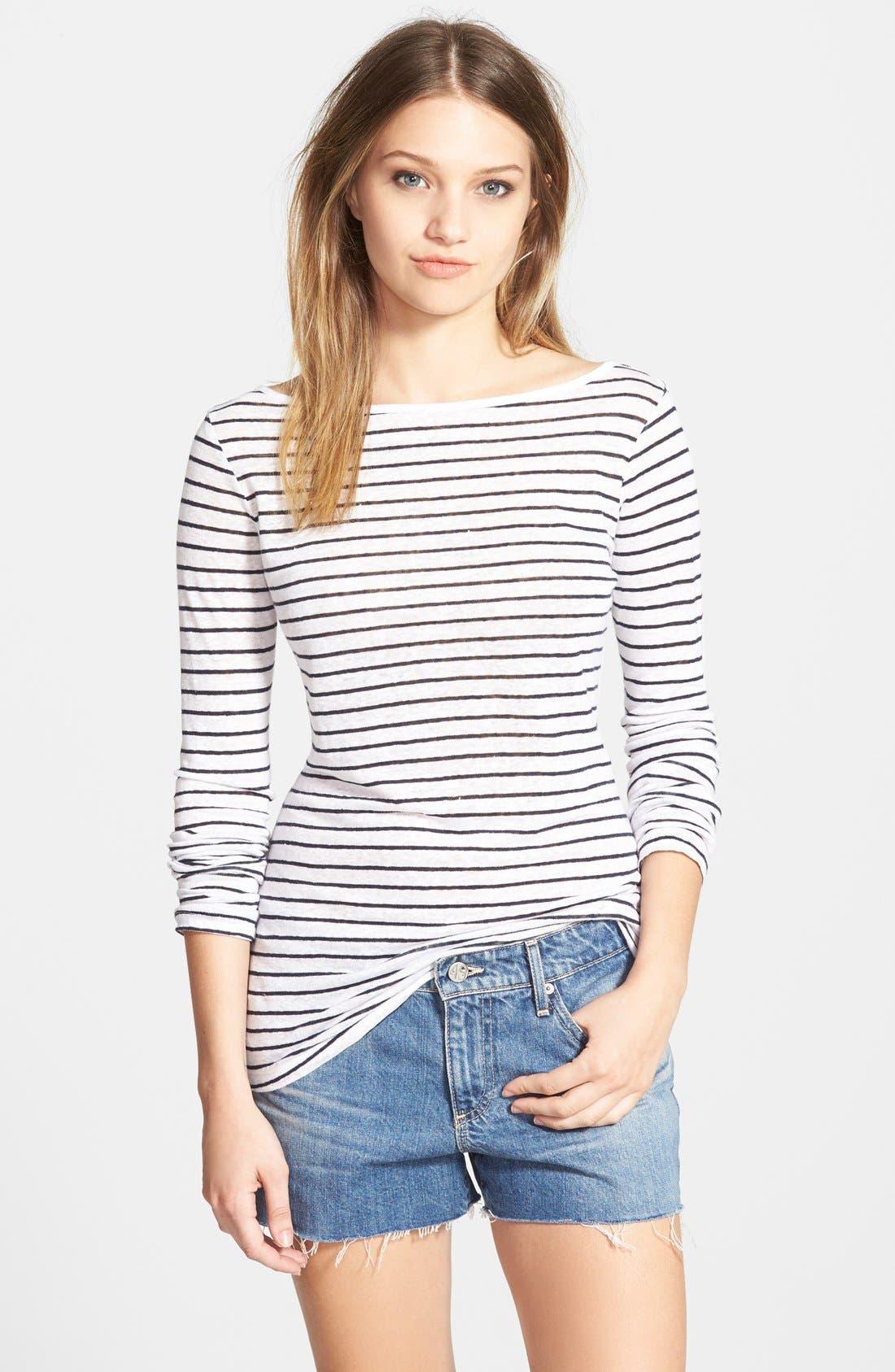 Main Image - Amour Vert 'Stassi' Stripe Long Sleeve Tee