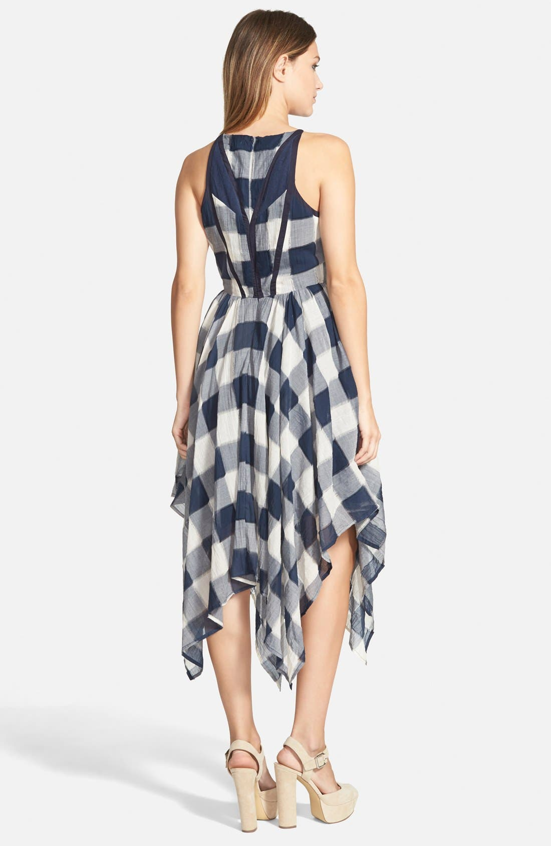 Alternate Image 2  - Storee Handkerchief Hem Halter Dress