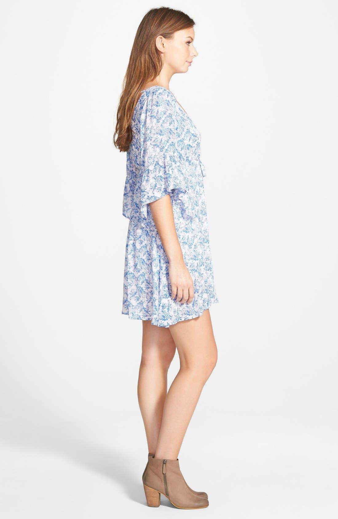 Alternate Image 3  - Cream and Sugar Bell Sleeve Dress