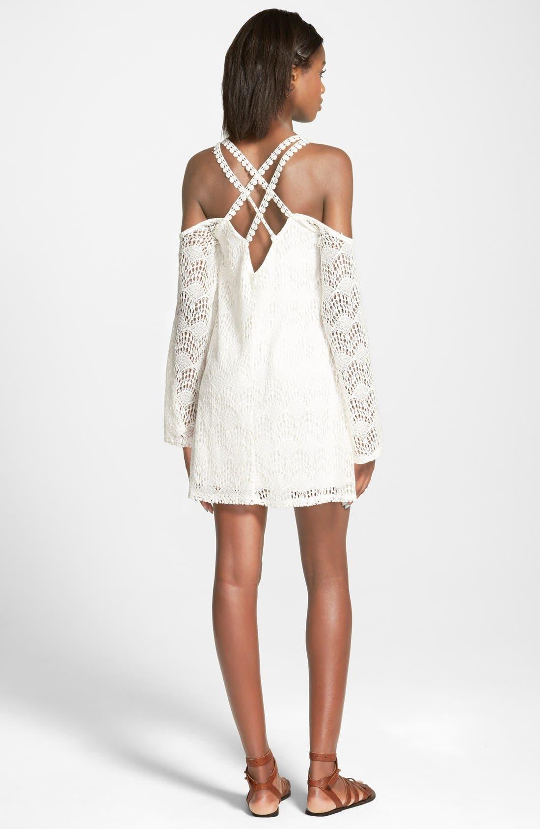 Alternate Image 2  - dee elle Lace Cold Shoulder Dress