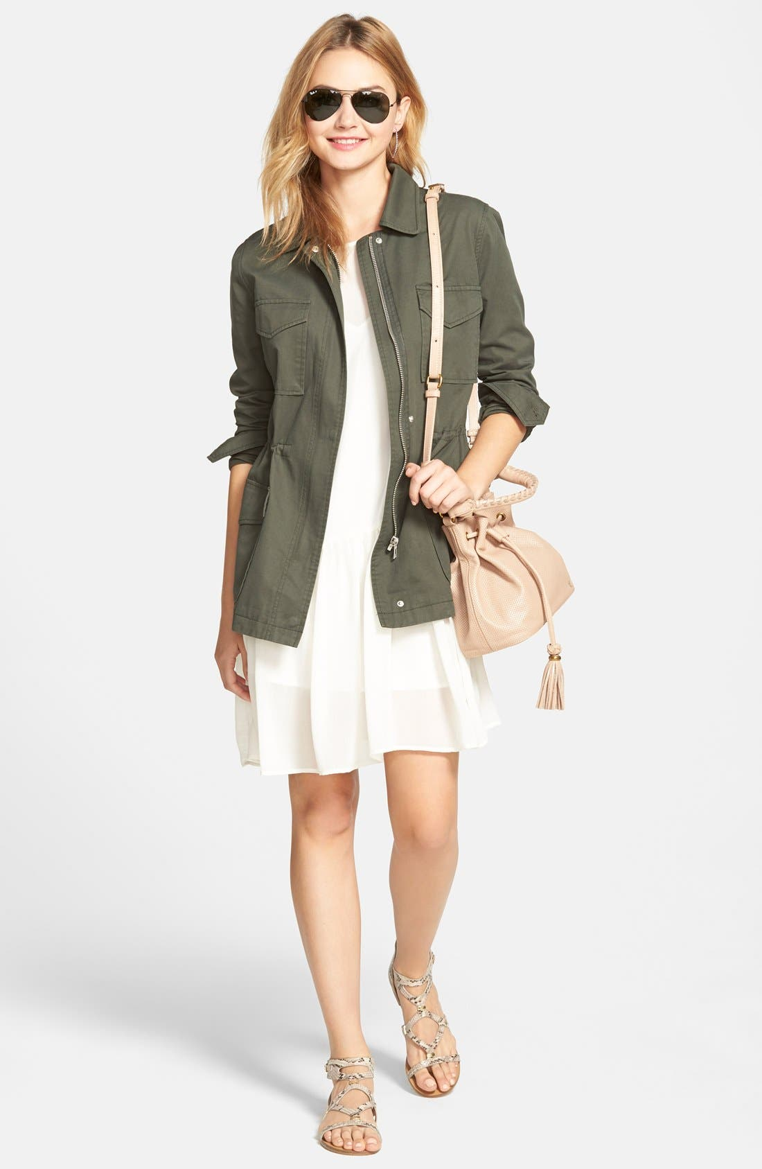 Alternate Image 5  - cupcakes and cashmere 'Presidio' Military Jacket (Nordstrom Exclusive)