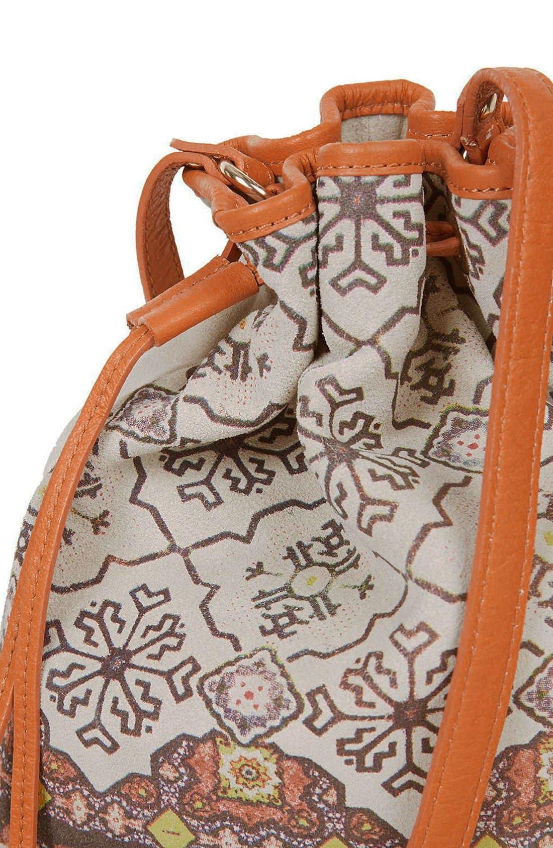Alternate Image 5  - Topshop Print Suede Bucket Bag