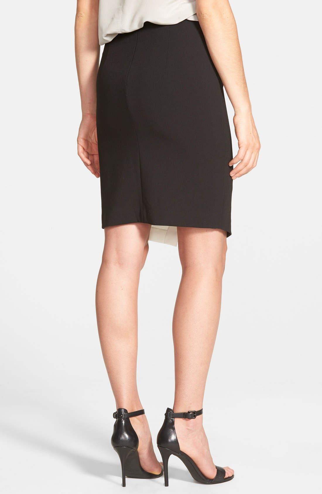 Alternate Image 3  - Halogen® Colorblock Faux Wrap Skirt