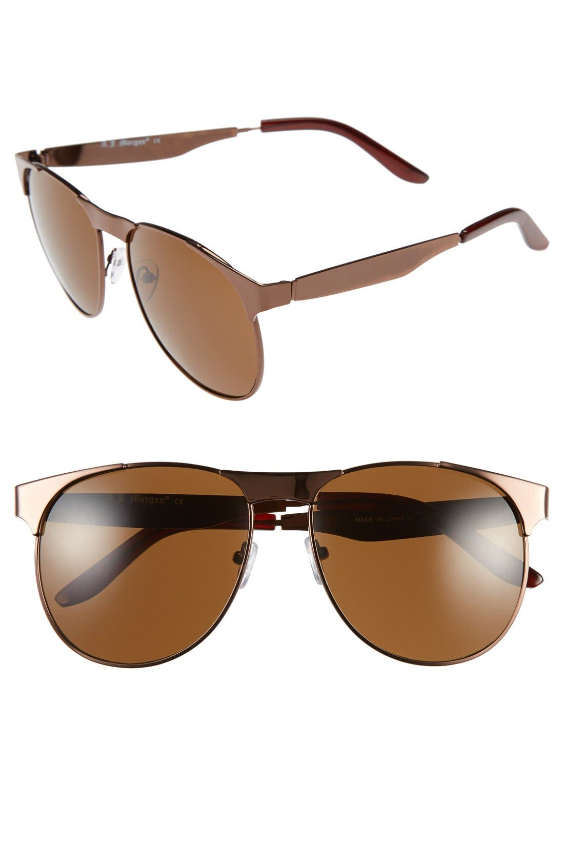 Alternate Image 1 Selected - A.J. Morgan 'Straight' 58mm Retro Sunglasses