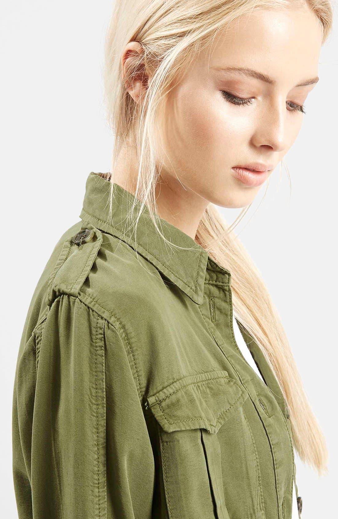 Alternate Image 5  - Topshop 'Elsa' Four Pocket Field Jacket