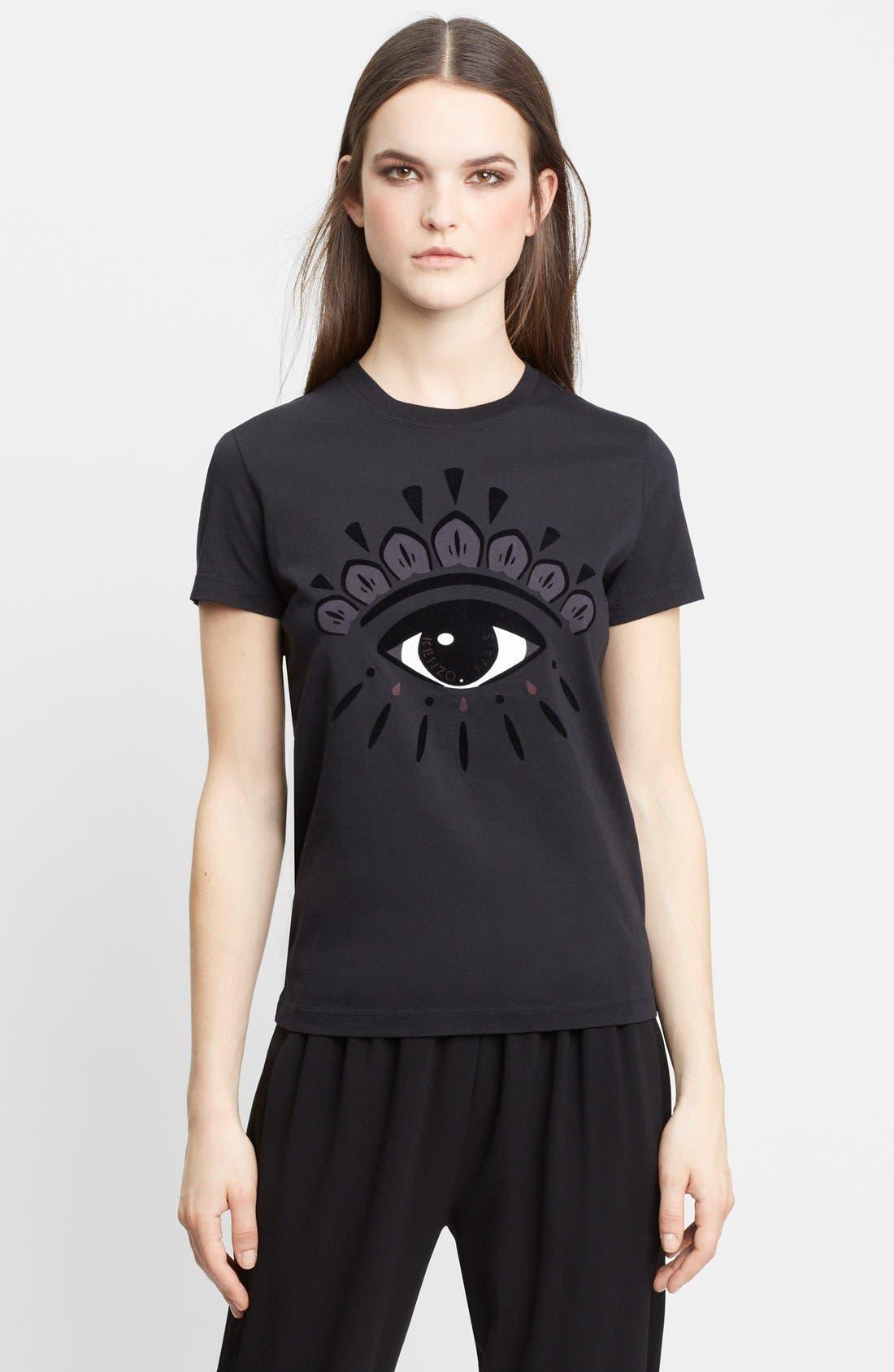 Alternate Image 1 Selected - KENZO Eye Print Jersey Cotton Tee