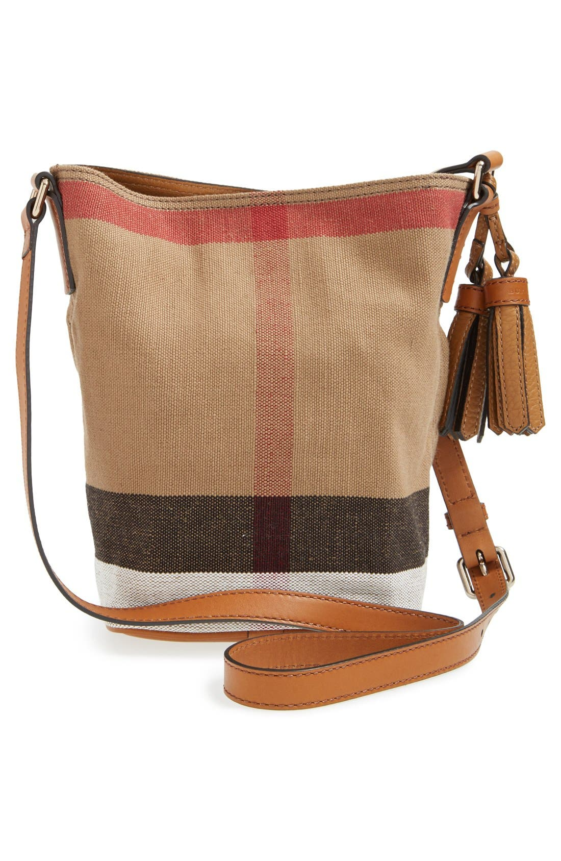 Alternate Image 3  - Burberry Brit 'Mini Ashby' Canvas Check Crossbody Bucket Bag