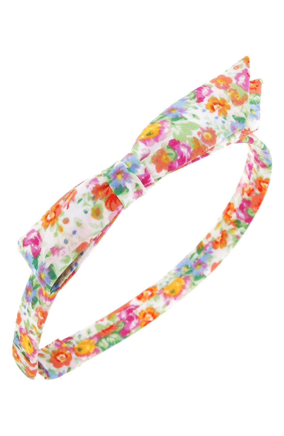 L. Erickson 'Bermuda Bow' Silk Headband (Girls)