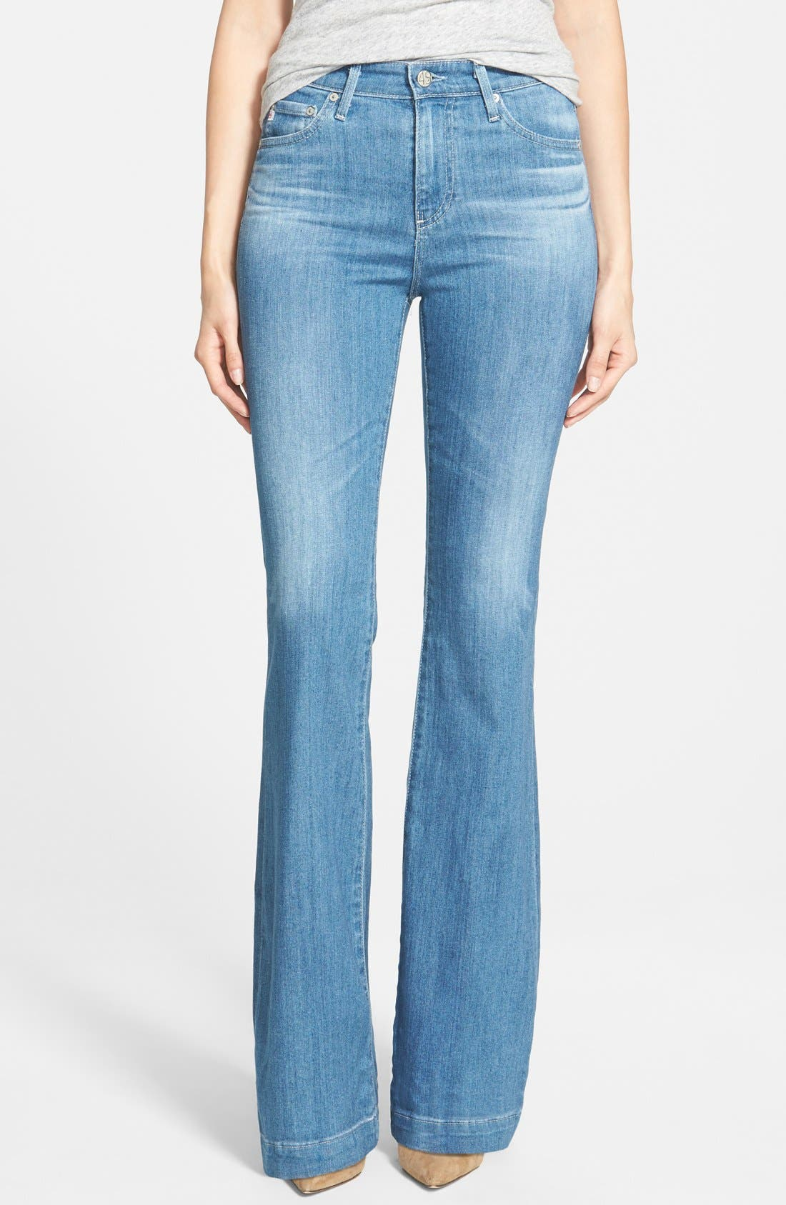 Alternate Image 1 Selected - AG 'Janis' High Rise Flare Jeans (25 Years Classic)