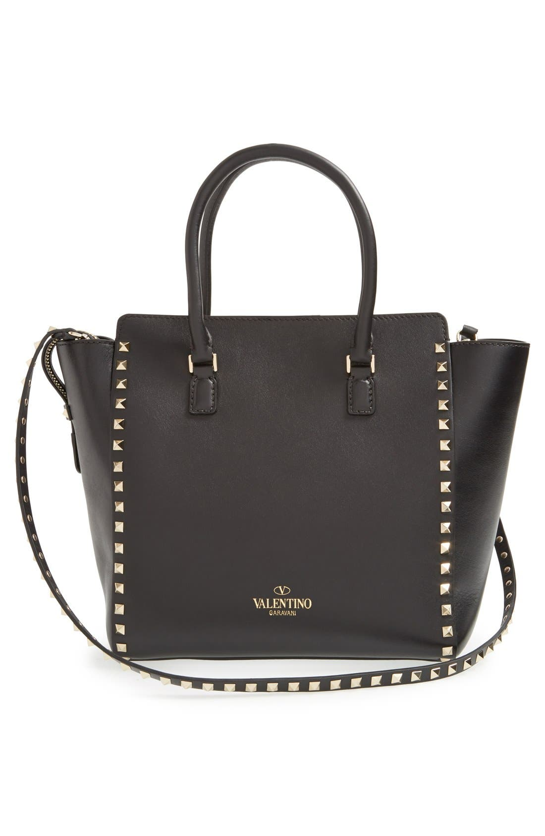 Alternate Image 3  - Valentino 'Rockstud' Leather Double Handle Tote
