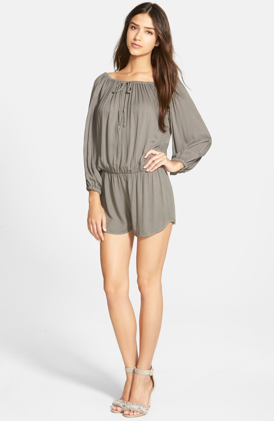 Main Image - Young, Fabulous & Broke 'Bess' Off the Shoulder Romper
