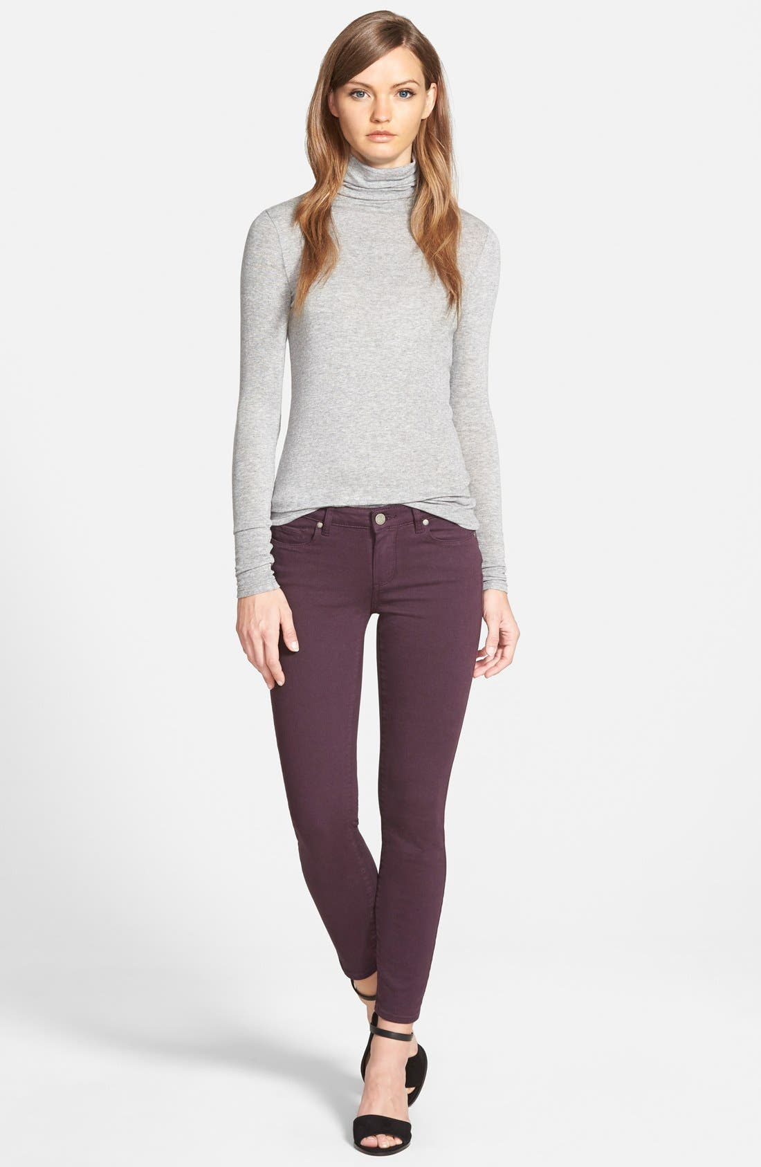 Alternate Image 3  - Paige Denim 'Verdugo' Ankle Skinny Jeans (Autumn Plum) (Nordstrom Exclusive)