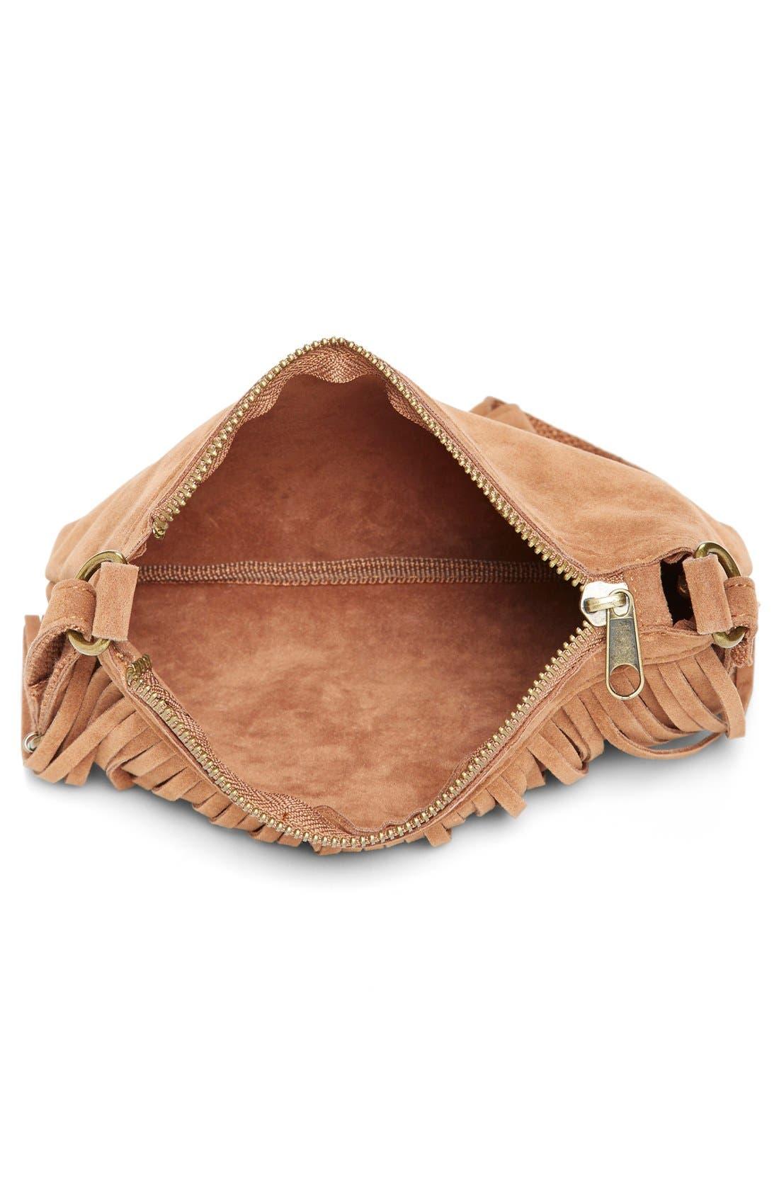 Alternate Image 3  - BP. Fringe Faux Suede Crossbody Bag