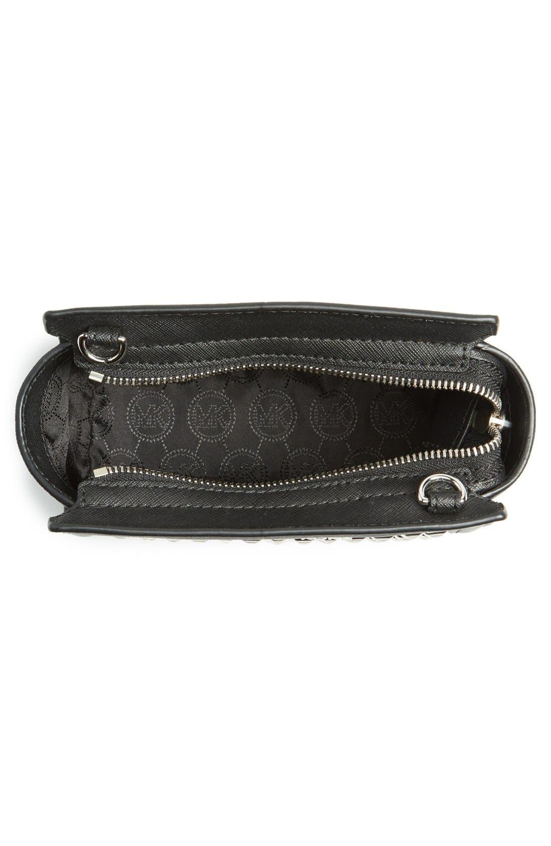 Alternate Image 4  - MICHAEL Michael Kors 'Mini Selma' Studded Saffiano Leather Crossbody Bag