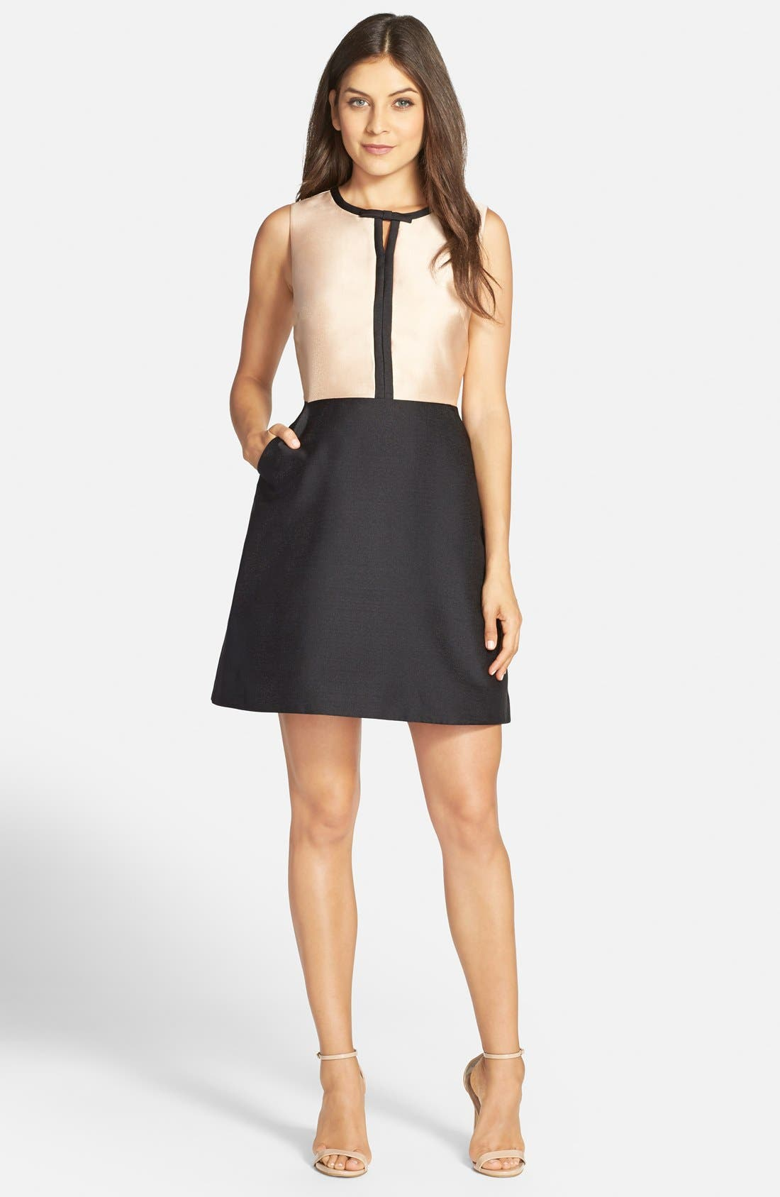 Alternate Image 3  - ERIN erin fetherston 'Eliza' Colorblock Twill Fit & Flare Dress