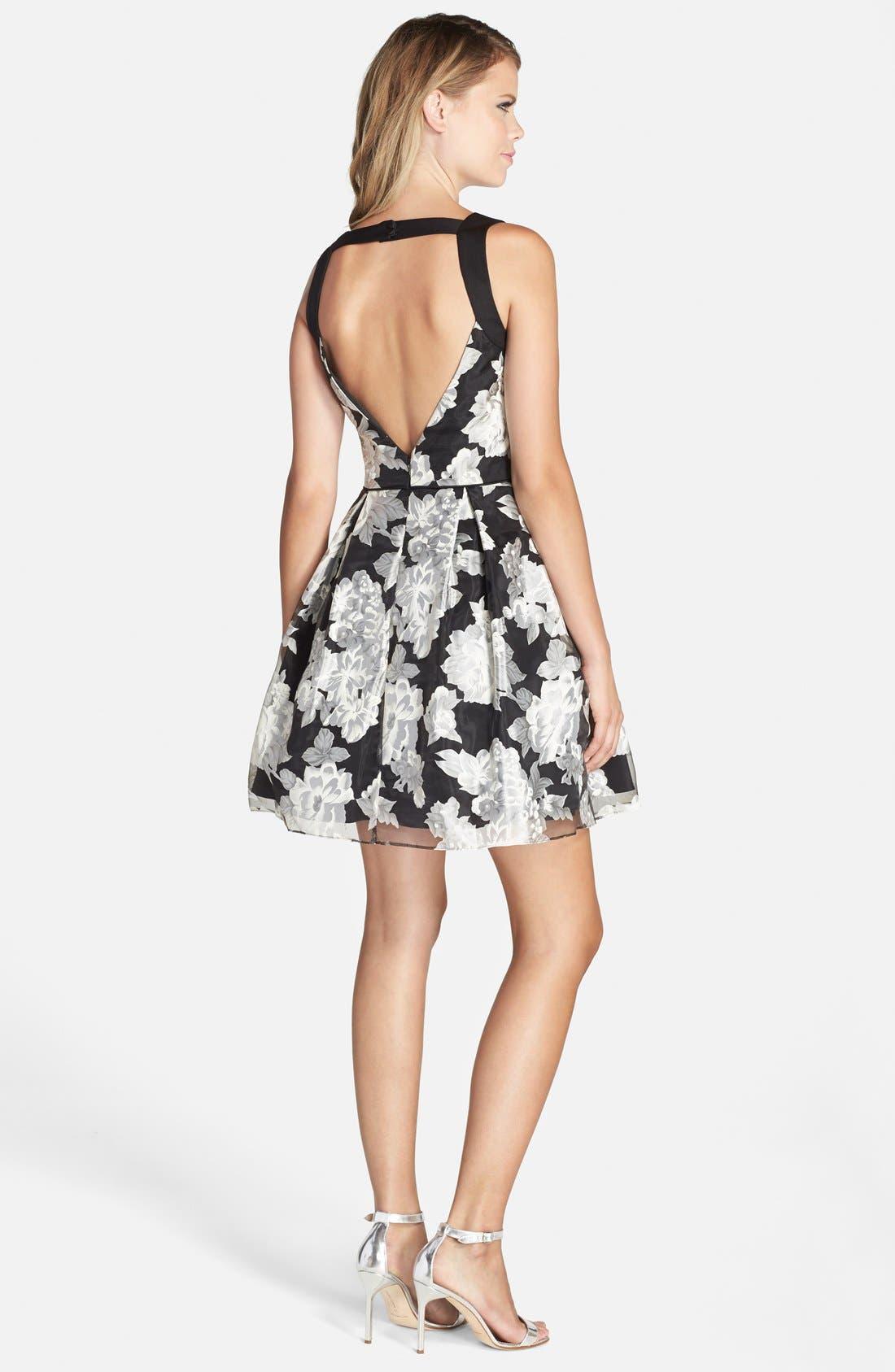Alternate Image 2  - Aidan by Aidan Mattox Floral Print Fit & Flare Dress