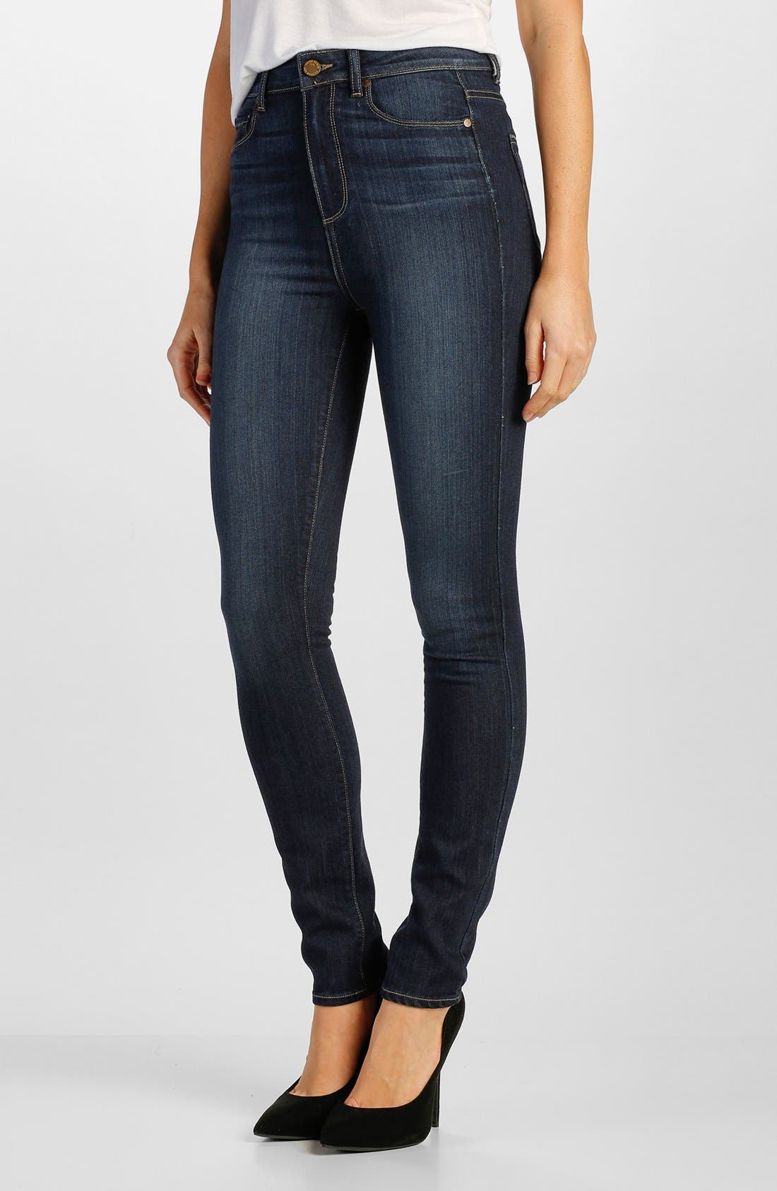 Main Image - Paige Denim 'Margot' High Rise Ultra Skinny Jeans (Alanis)