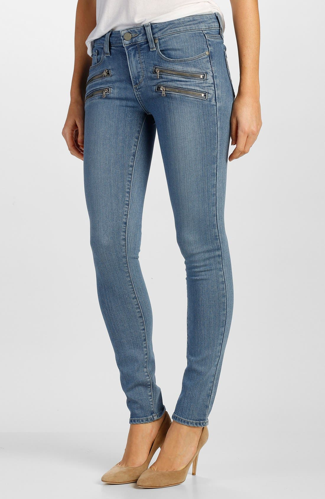 Main Image - Paige Denim 'Transcend - Edgemont' Ultra Skinny Jeans (Joelle No Whiskers)