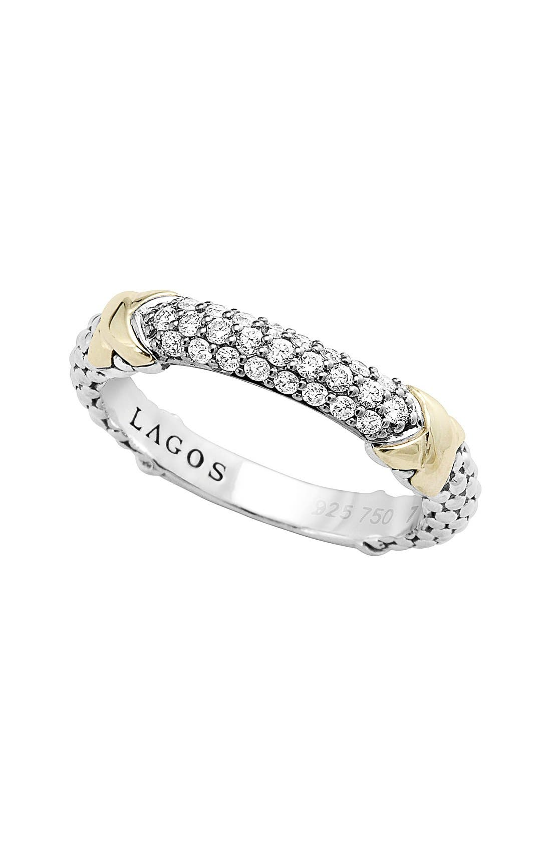LAGOS 'Diamond Lux' Diamond Band Ring