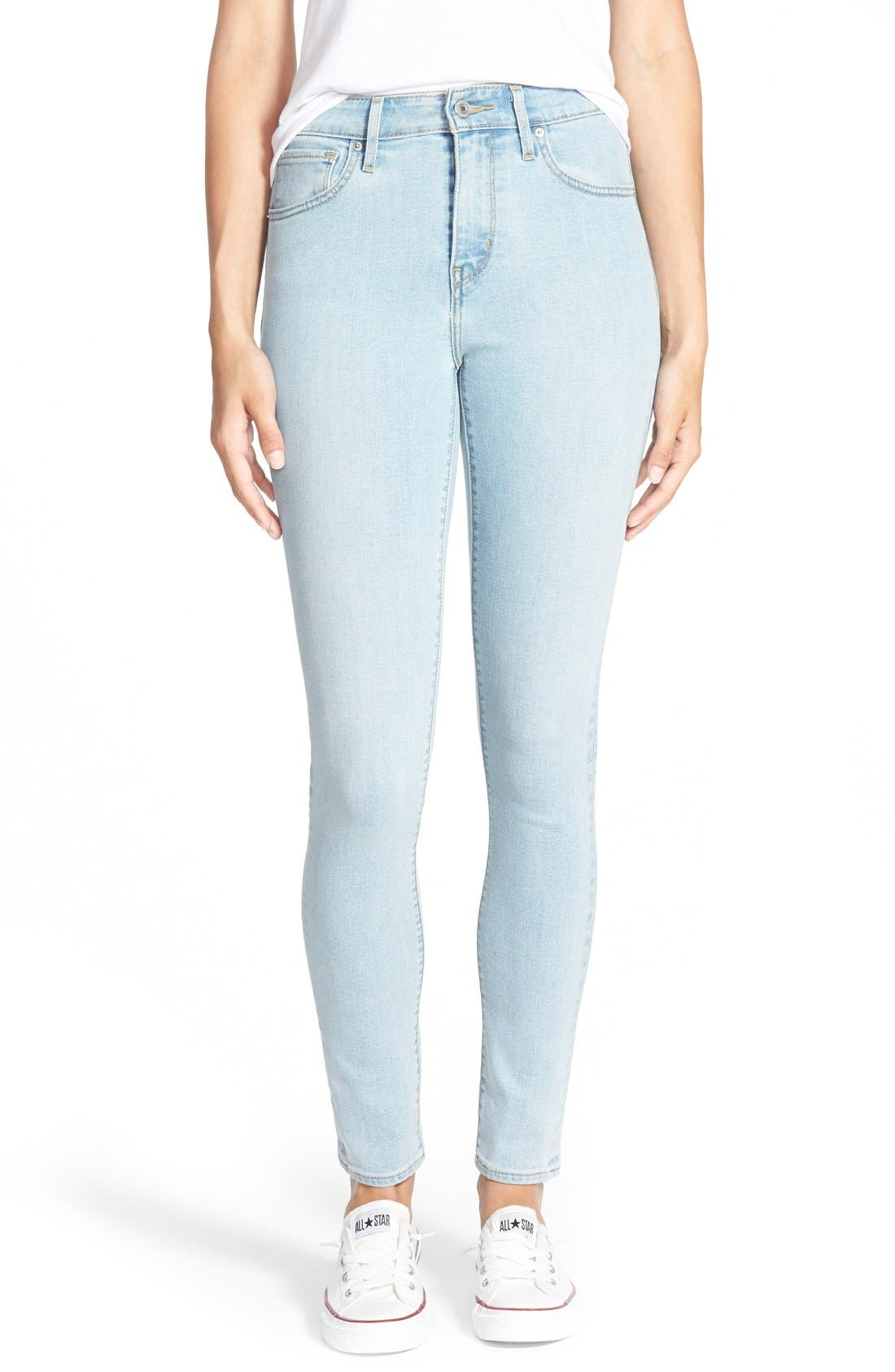 Alternate Image 1 Selected - Levi's® '721' High Rise Skinny Jeans (Light)