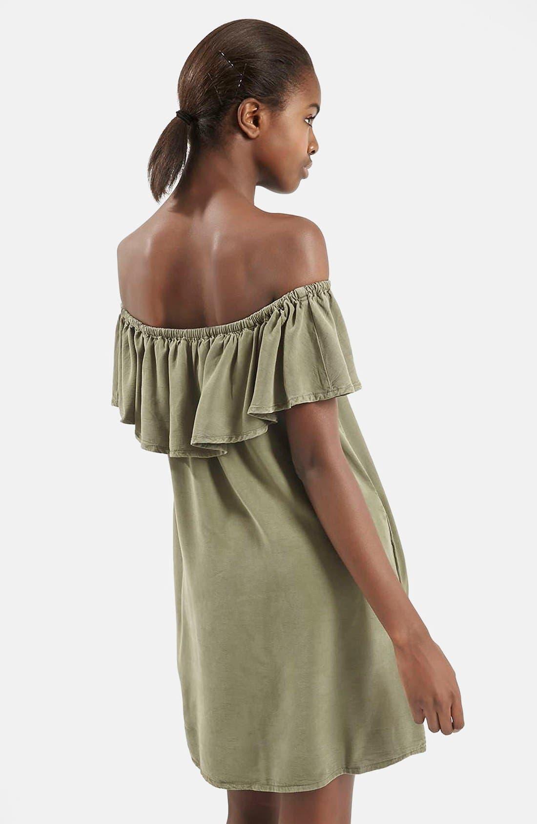 Alternate Image 2  - Topshop Ruffled Off the Shoulder Dress
