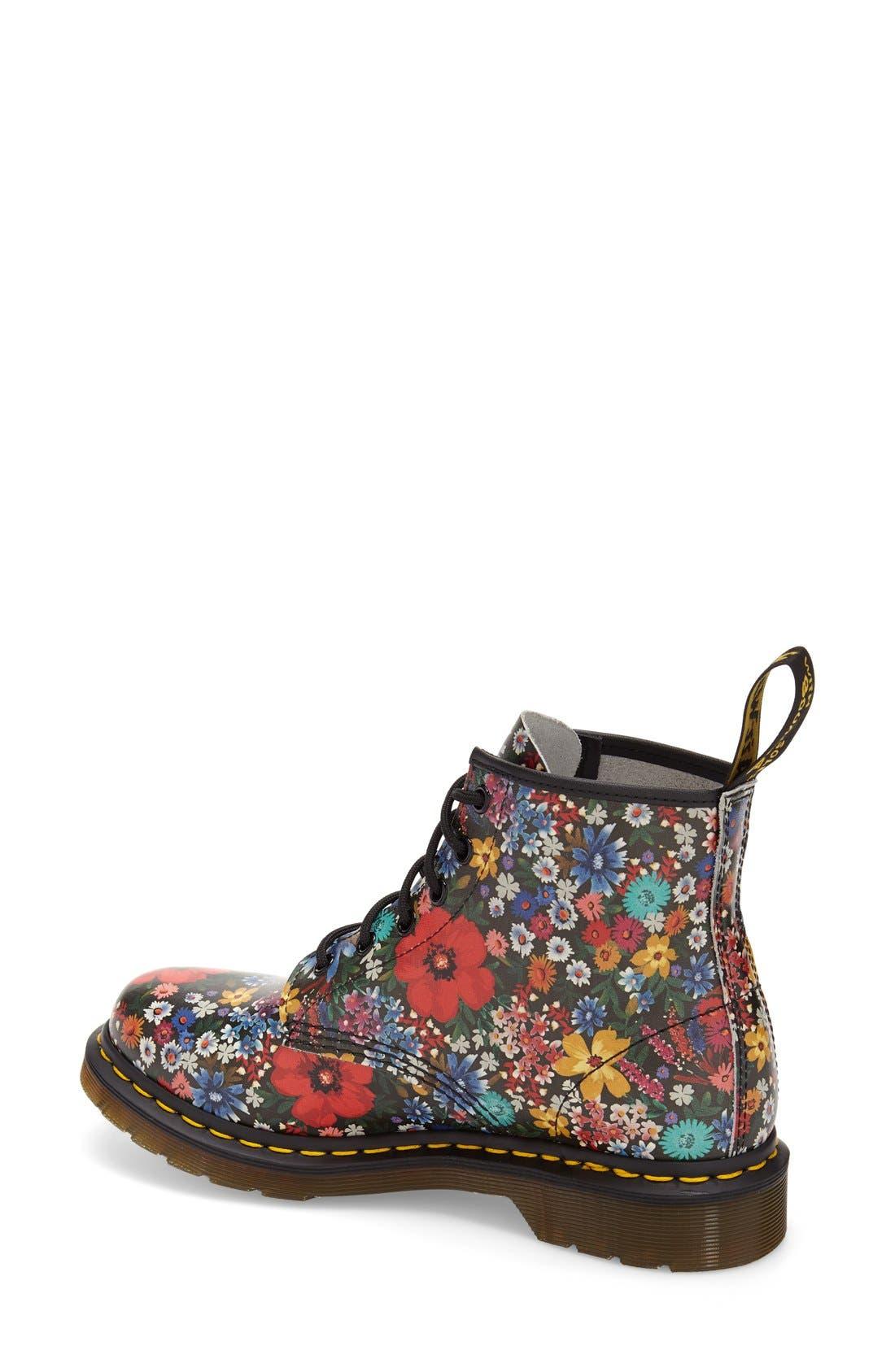 Alternate Image 2  - Dr. Martens '101' Floral Print Leather Boot (Women)