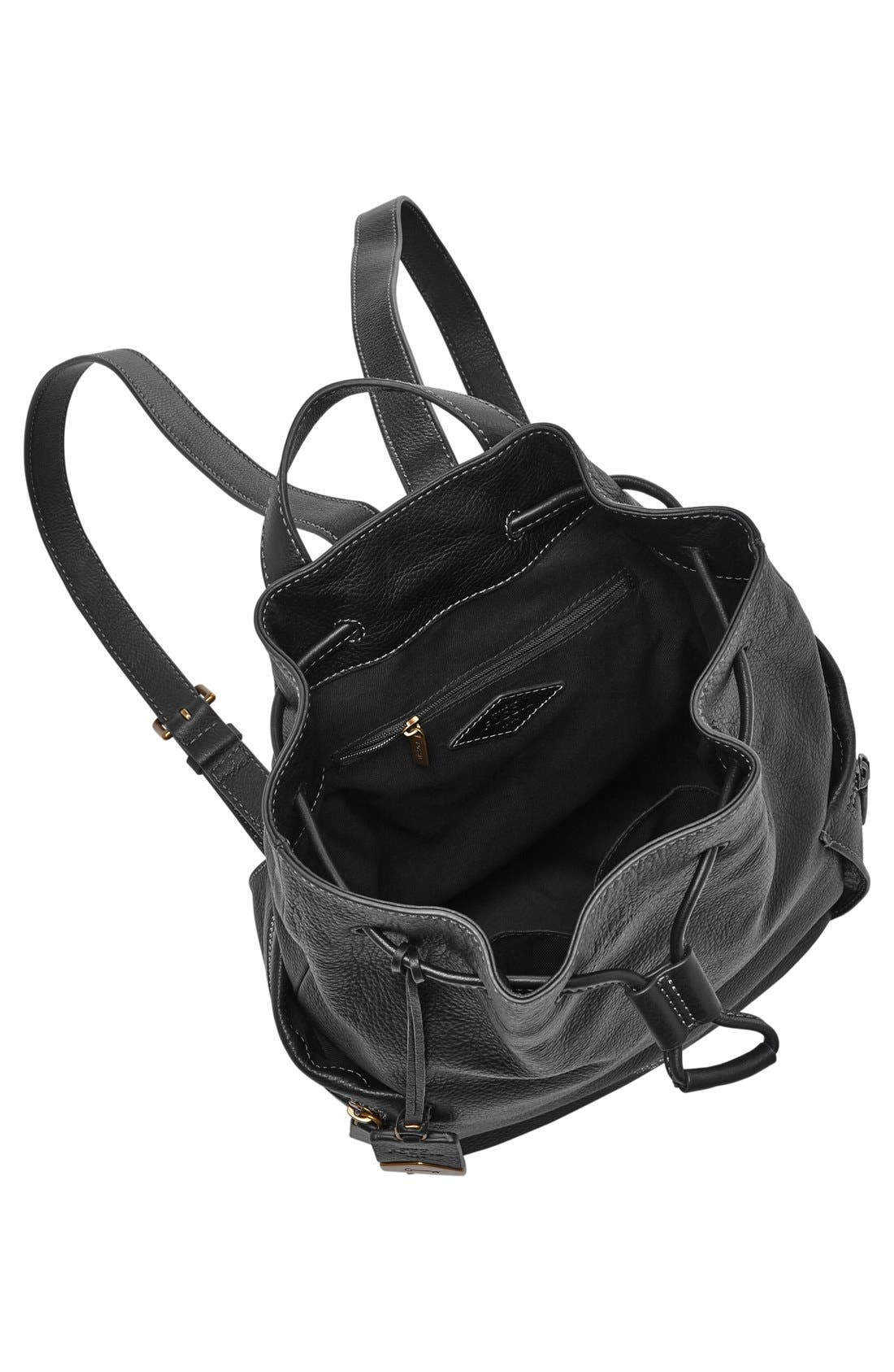 Alternate Image 2  - Fossil 'Vickery - Large' Drawstring Leather Backpack