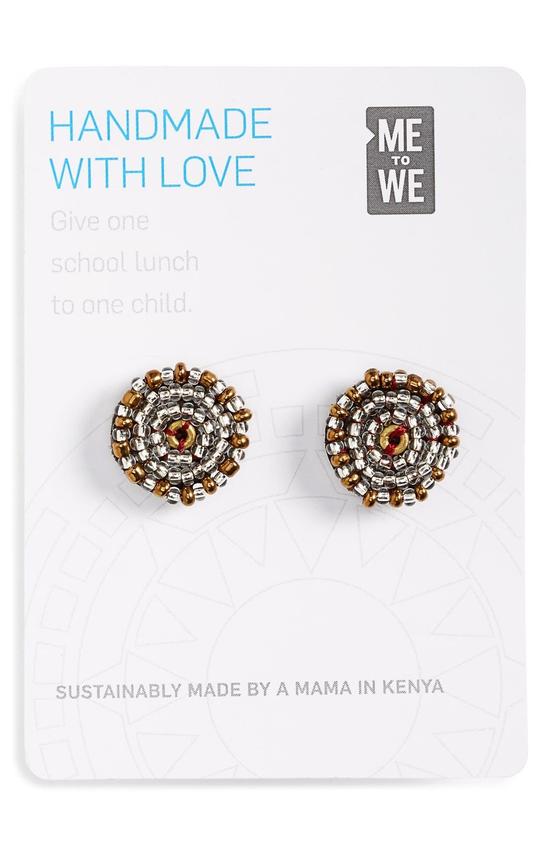Alternate Image 2  - Me to We Artisans Beaded Leather Stud Earrings (Online Only)