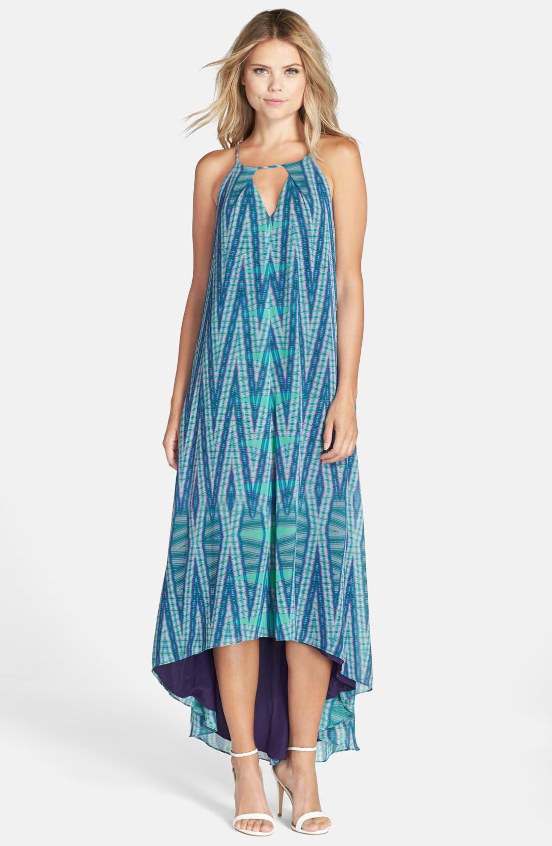 Alternate Image 1 Selected - Adelyn Rae Print Trapeze Maxi Dress