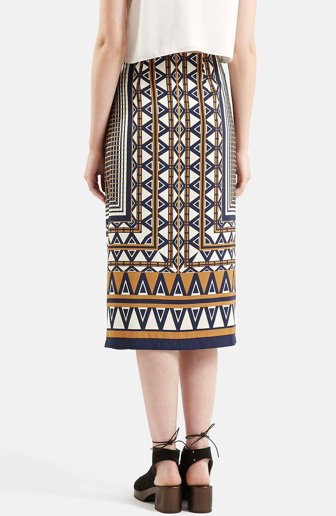 Alternate Image 3  - Topshop Print Midi Skirt