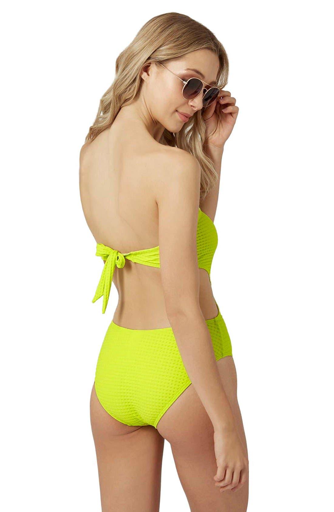 Alternate Image 2  - Topshop 'Sophs' Bandeau Cutout One-Piece Swimsuit