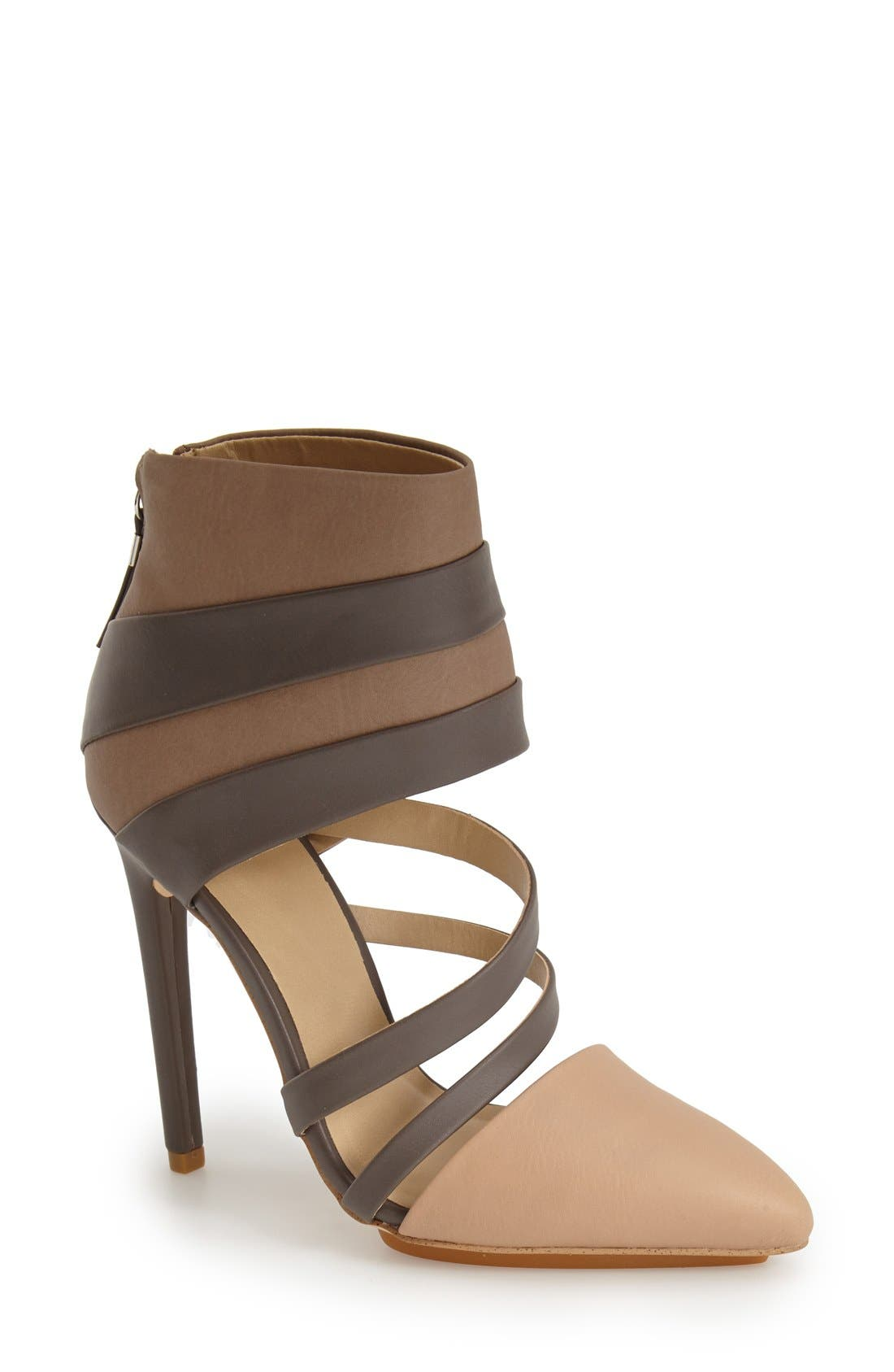 Alternate Image 1 Selected - gx by Gwen Stefani 'Cake' Pointy Toe Cutout Bootie (Women)