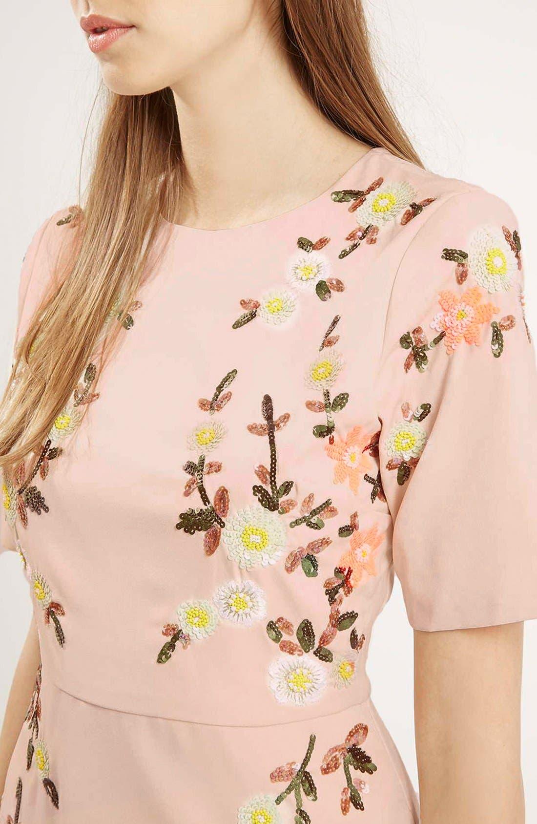 Alternate Image 4  - Topshop Embellished A-Line Dress