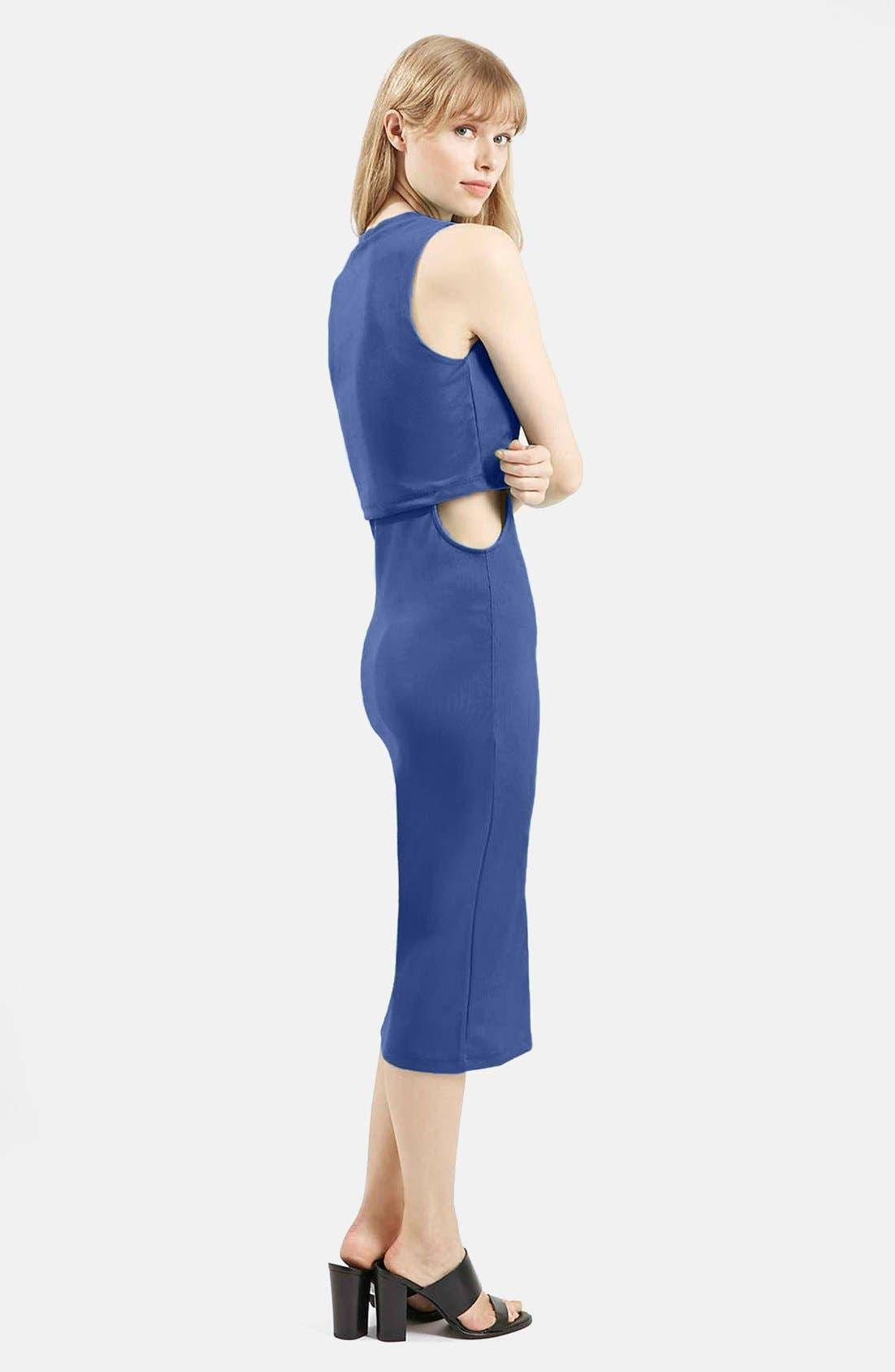 Alternate Image 5  - Topshop Sleeveless Cutout Midi Dress