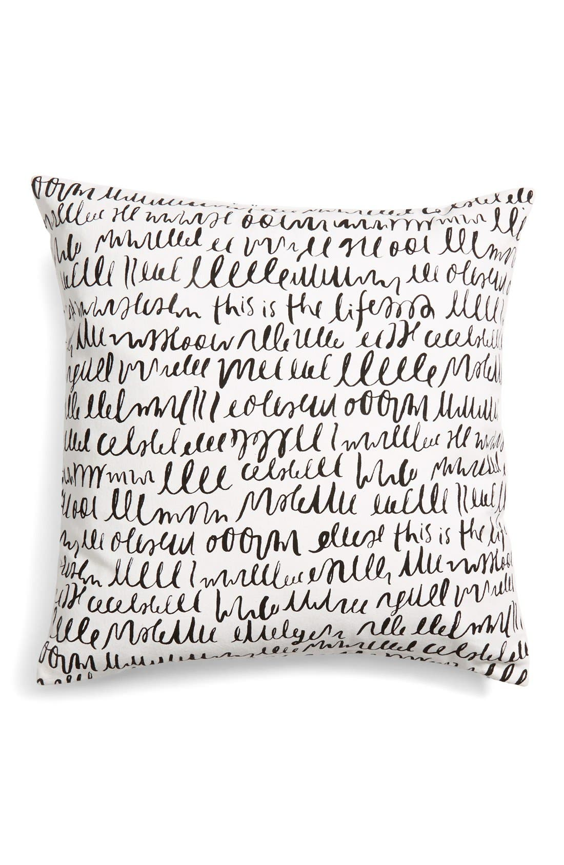 Alternate Image 1 Selected - kate spade new york 'this is the life' accent pillow