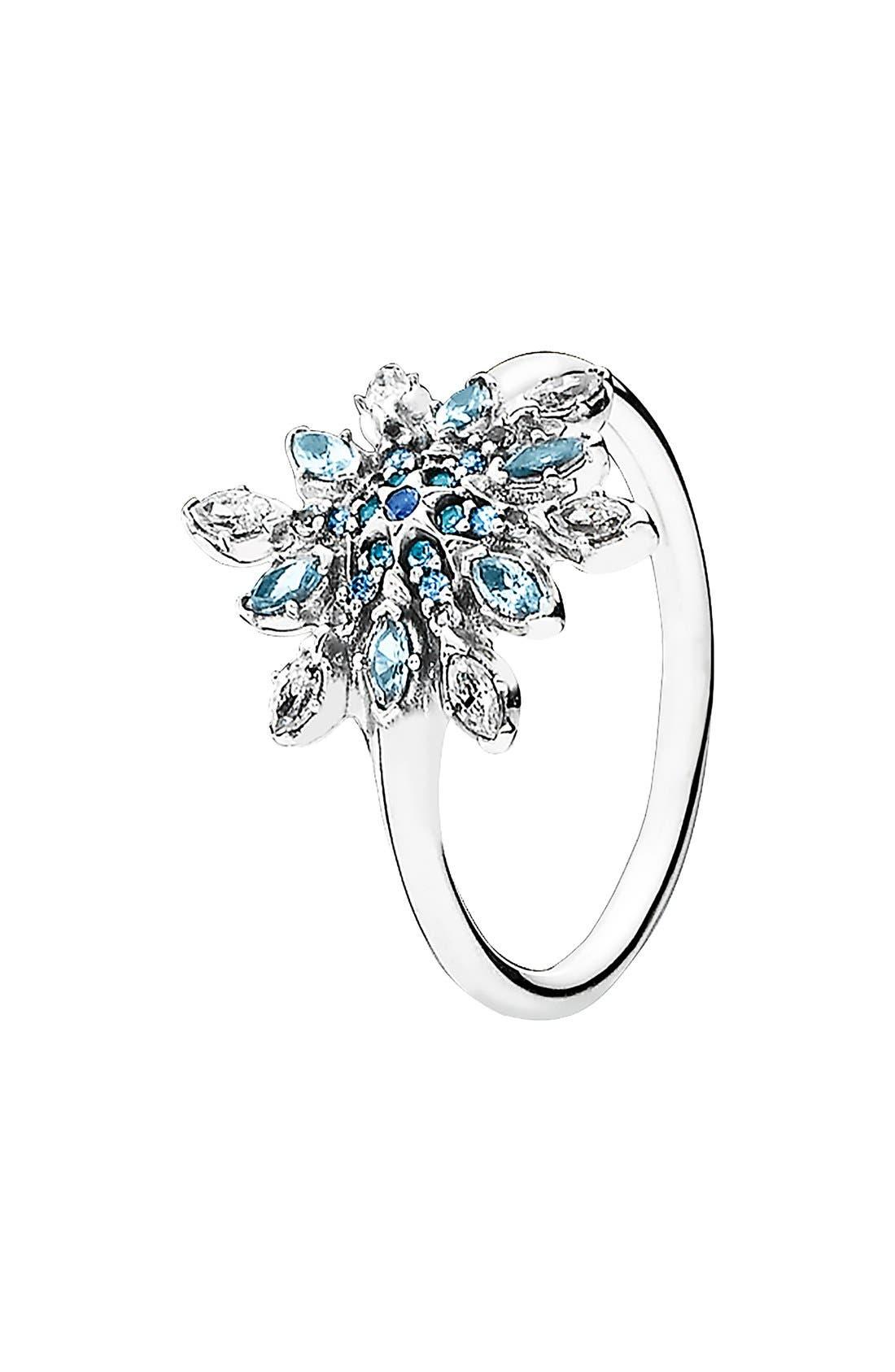 Alternate Image 1 Selected - PANDORA 'Snowflake' Cubic Zirconia Ring