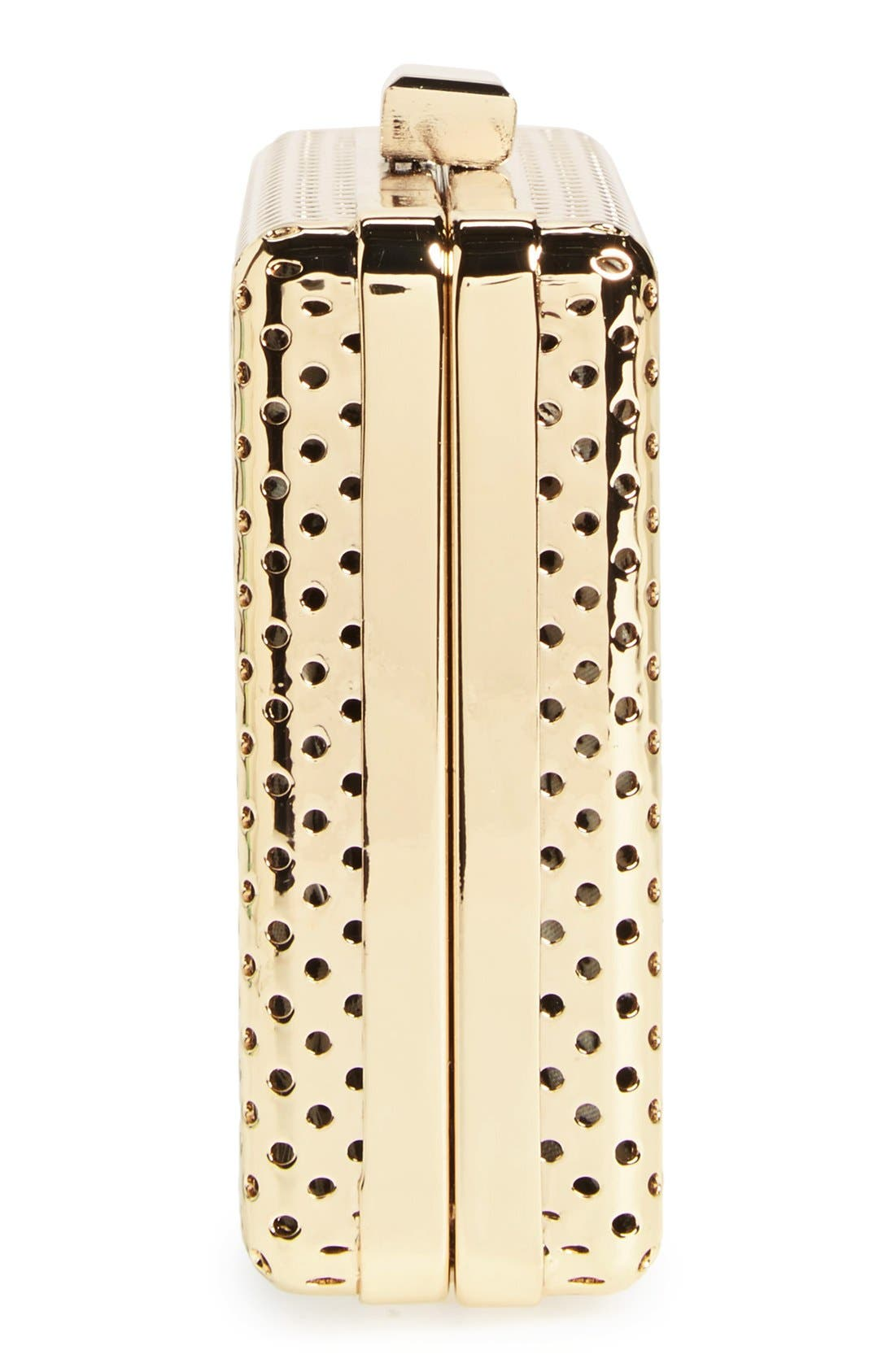 Alternate Image 5  - Sole Society 'Raquelle' Perforated Metal Box Clutch