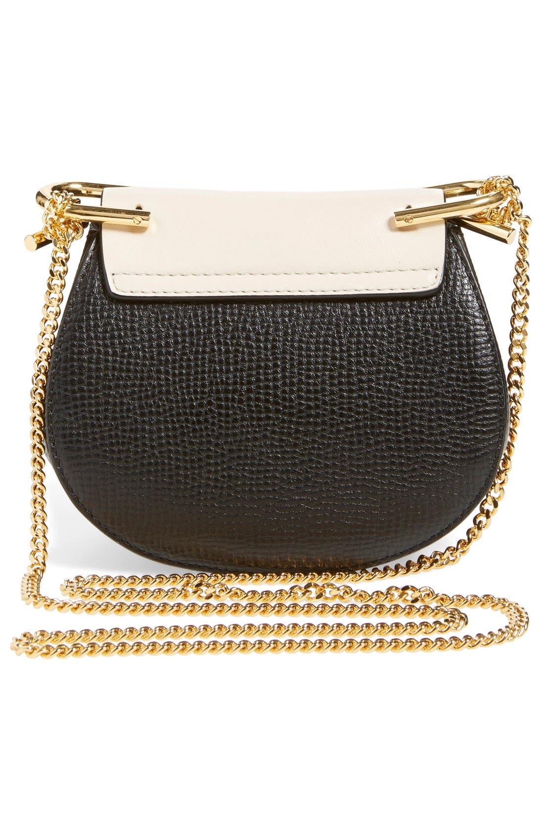 Alternate Image 2  - Chloé 'Nano Drew' Lambskin & Calfskin Leather Shoulder Bag