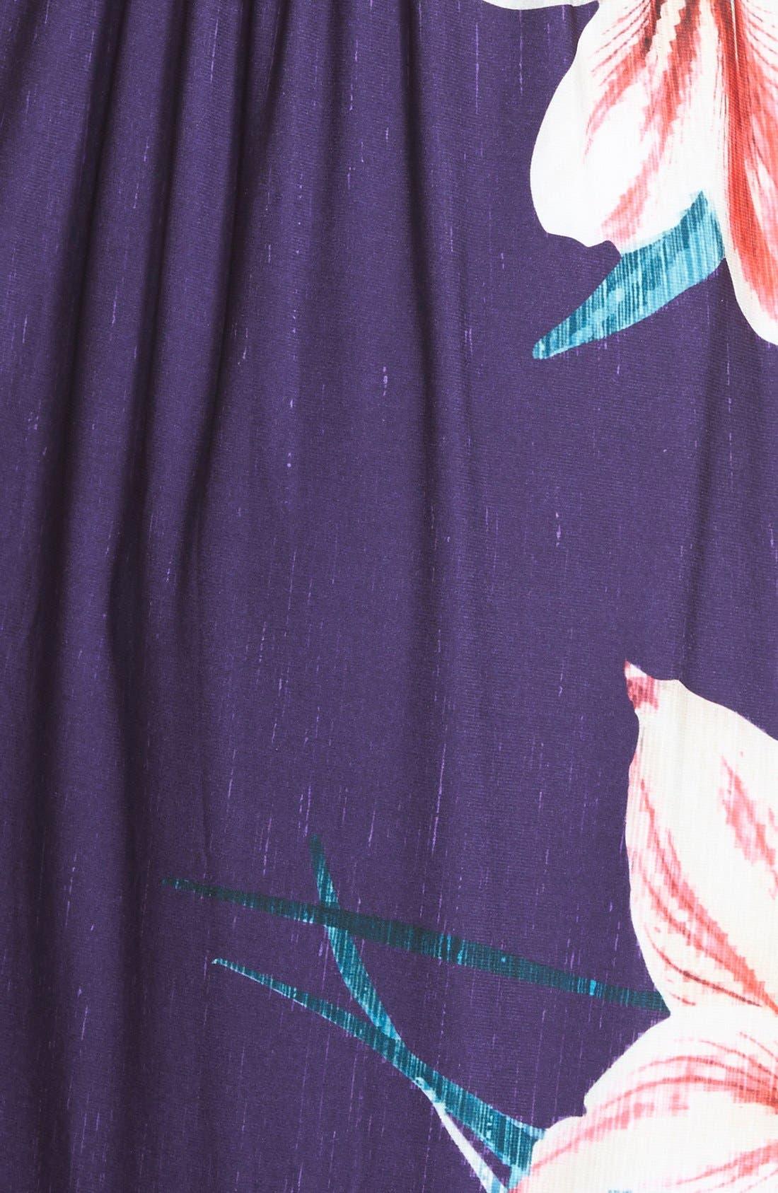 Alternate Image 3  - Catherine Catherine Malandrino 'Sheila' Floral Print V-Neck Sundress