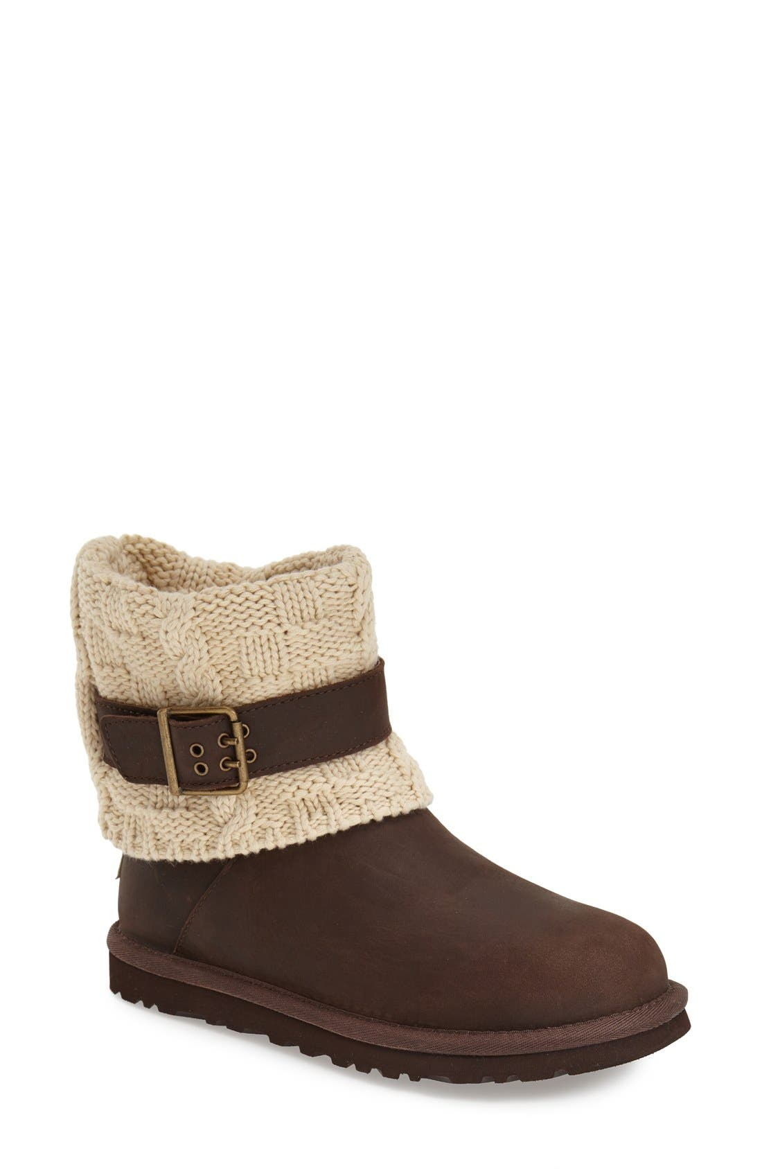 Alternate Image 1 Selected - UGG® 'Cassidee' Cable Knit Boot (Women)
