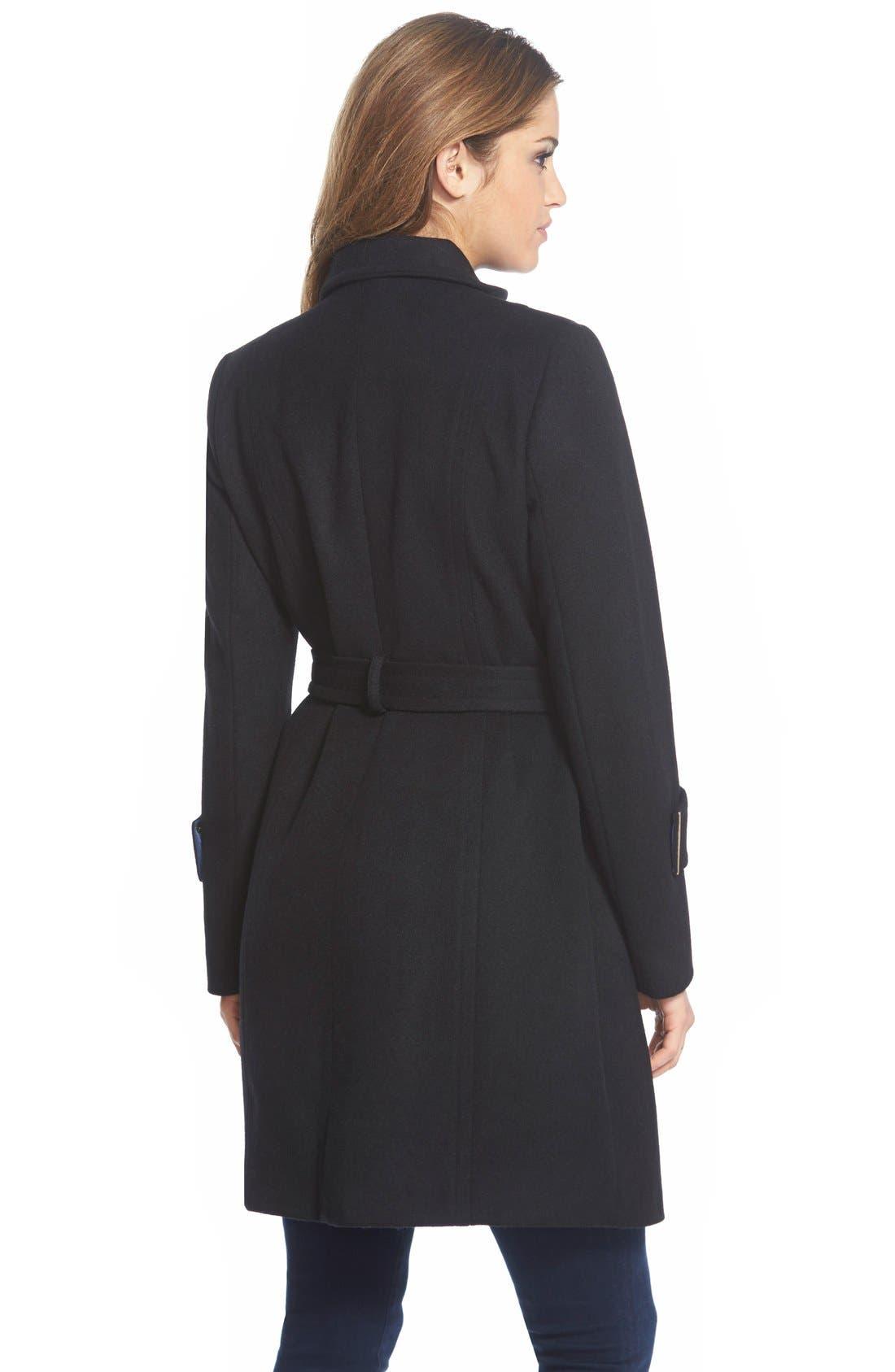 Alternate Image 2  - T Tahari'India' Wool Blend Wrap Coat