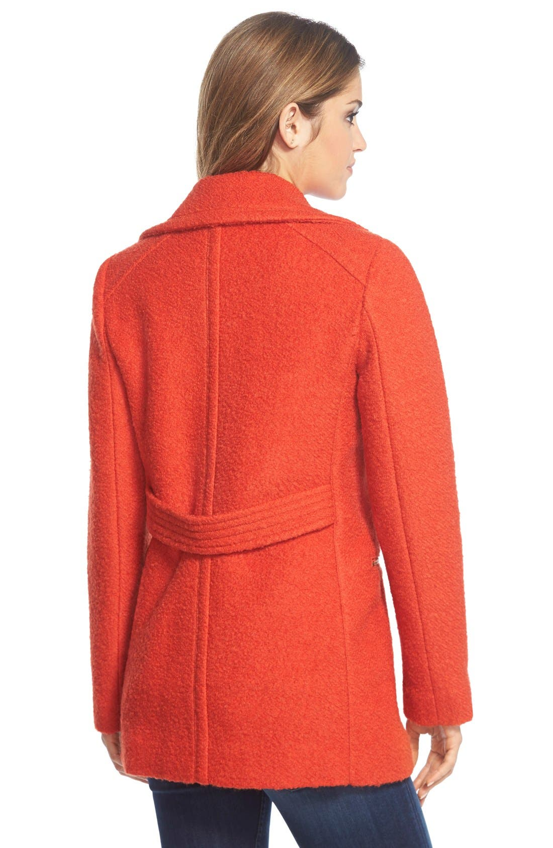Alternate Image 2  - GUESS Bouclé Asymmetrical Zip Coat