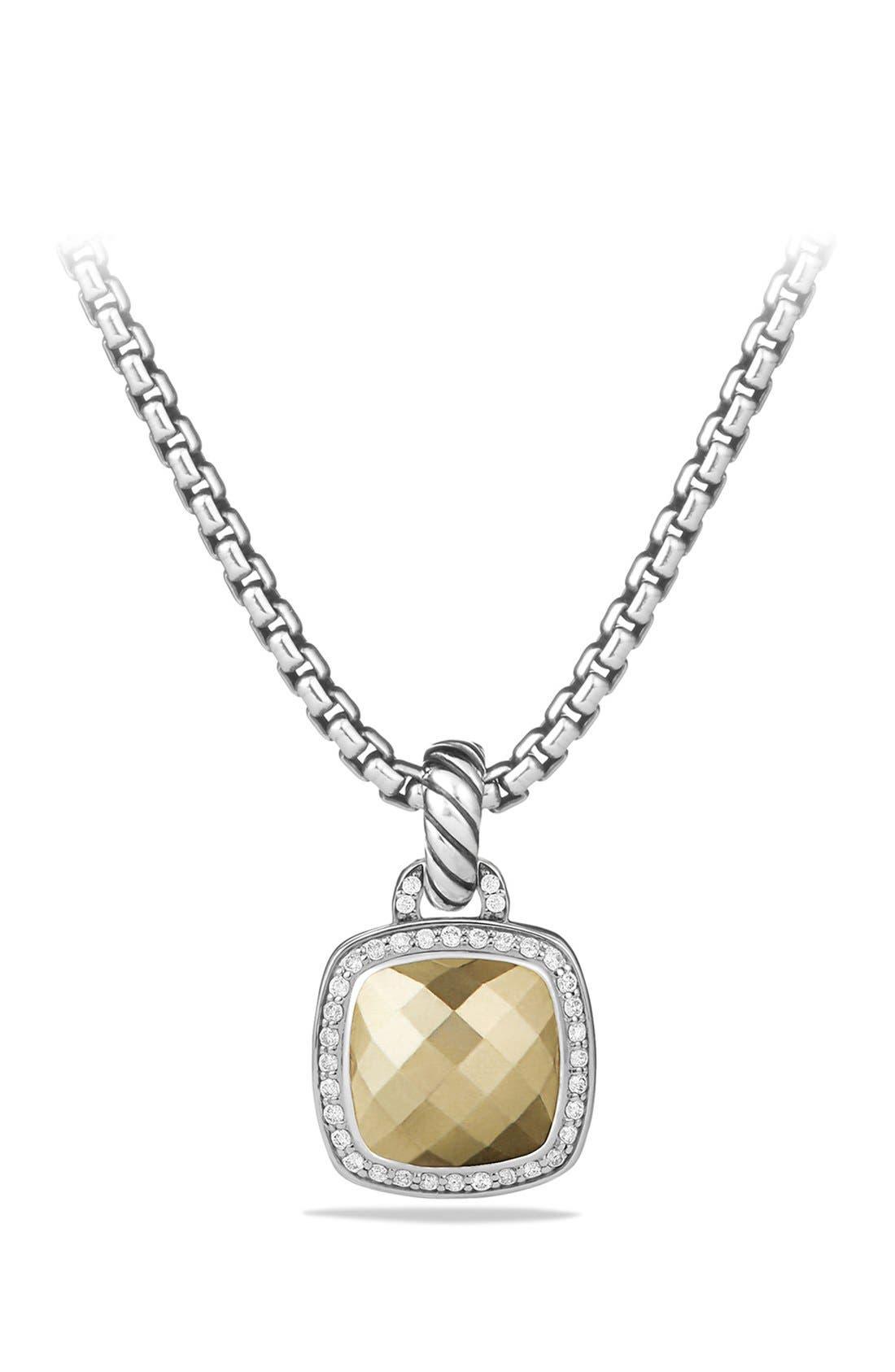 David Yurman'Albion' Pendant with Gold Dome and Diamonds