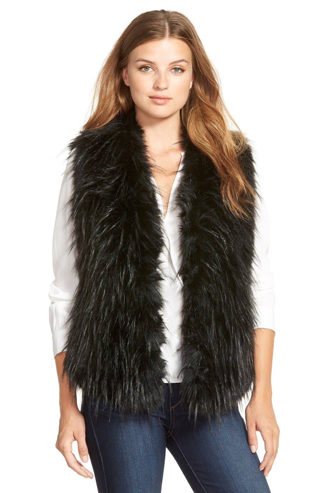 Alternate Image 1 Selected - Ivanka Trump Faux Fur Vest