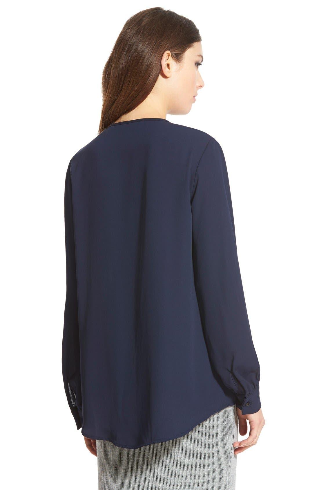 Alternate Image 2  - WAYF Keyhole Long Sleeve Blouse