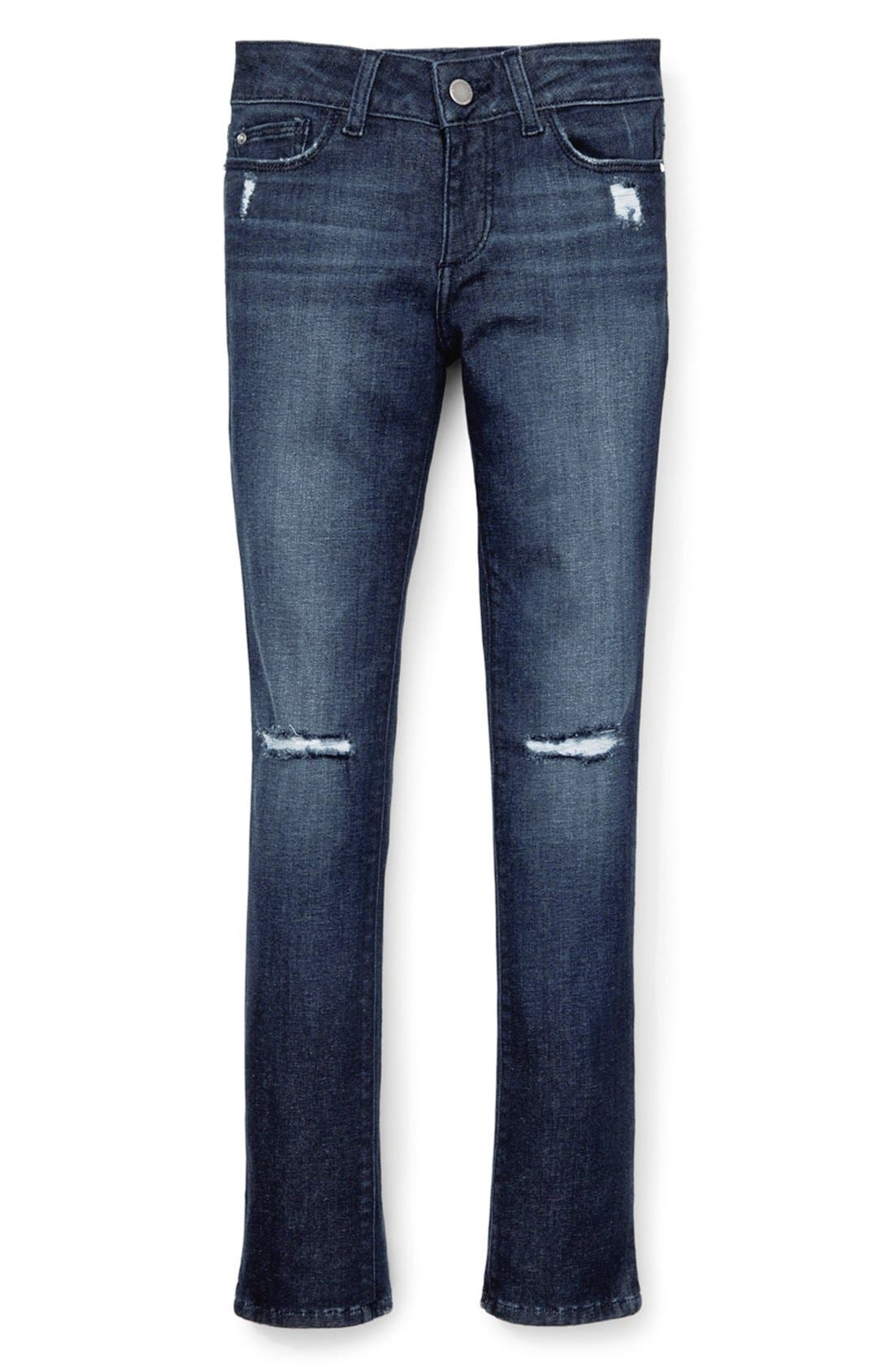 DL1961 'Chloe' Stretch Denim Skinny Jeans (Big Girls)